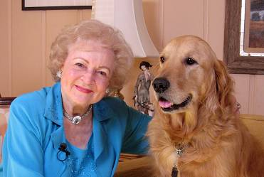 Betty White and her dog Pontiac. The Hollywood icon will attend a fundraiser in Hinsdale this weekend for BraveHearts Therapeutic Riding and Educational Center.