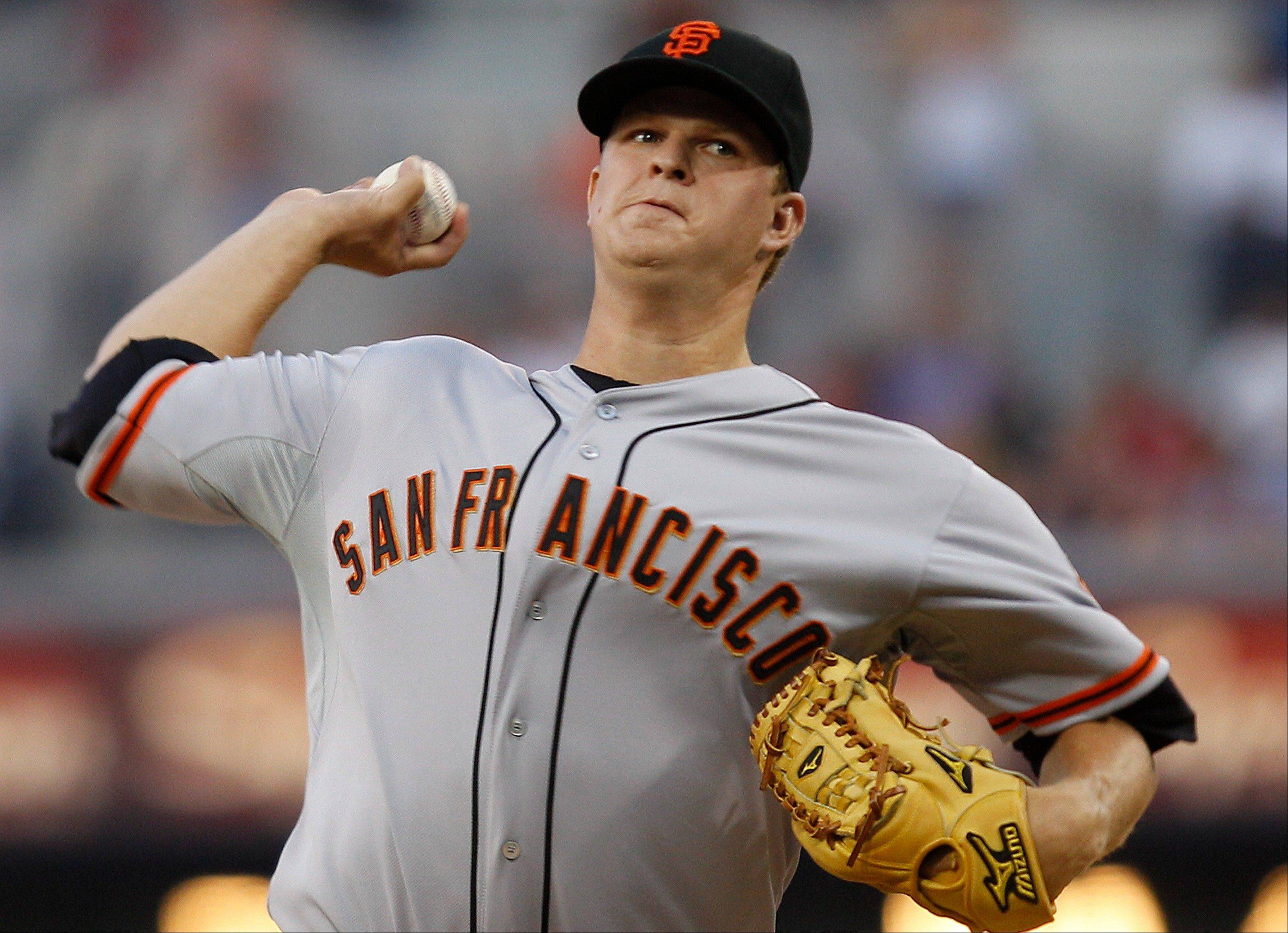 San Francisco Giants starting pitcher Matt Cain gave up one run on four hits Friday night in San Diego to earn his 12th win.