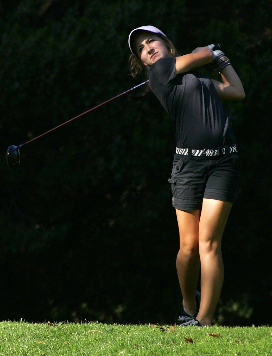 St. Charles North coach Chris Patrick has high praise for senior Ariana Furrie, pictured above, saying his No. 1 golfer has a chance to finish as one of the best players ever to tee it up for the North Stars.