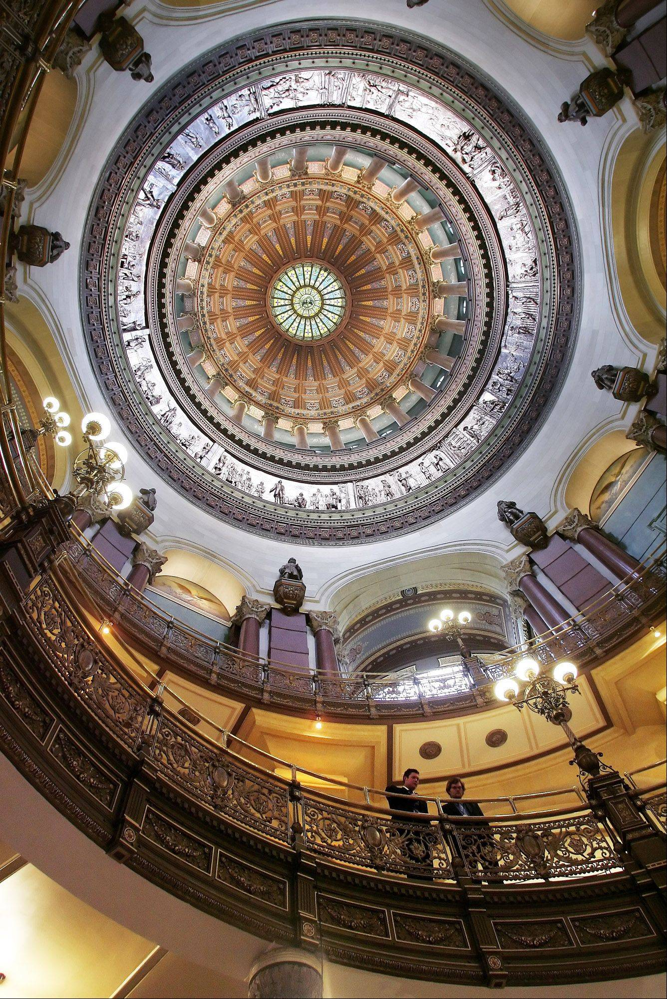 Lawmakers met under the Illinois Capitol dome Friday to talk once again about pension reform.