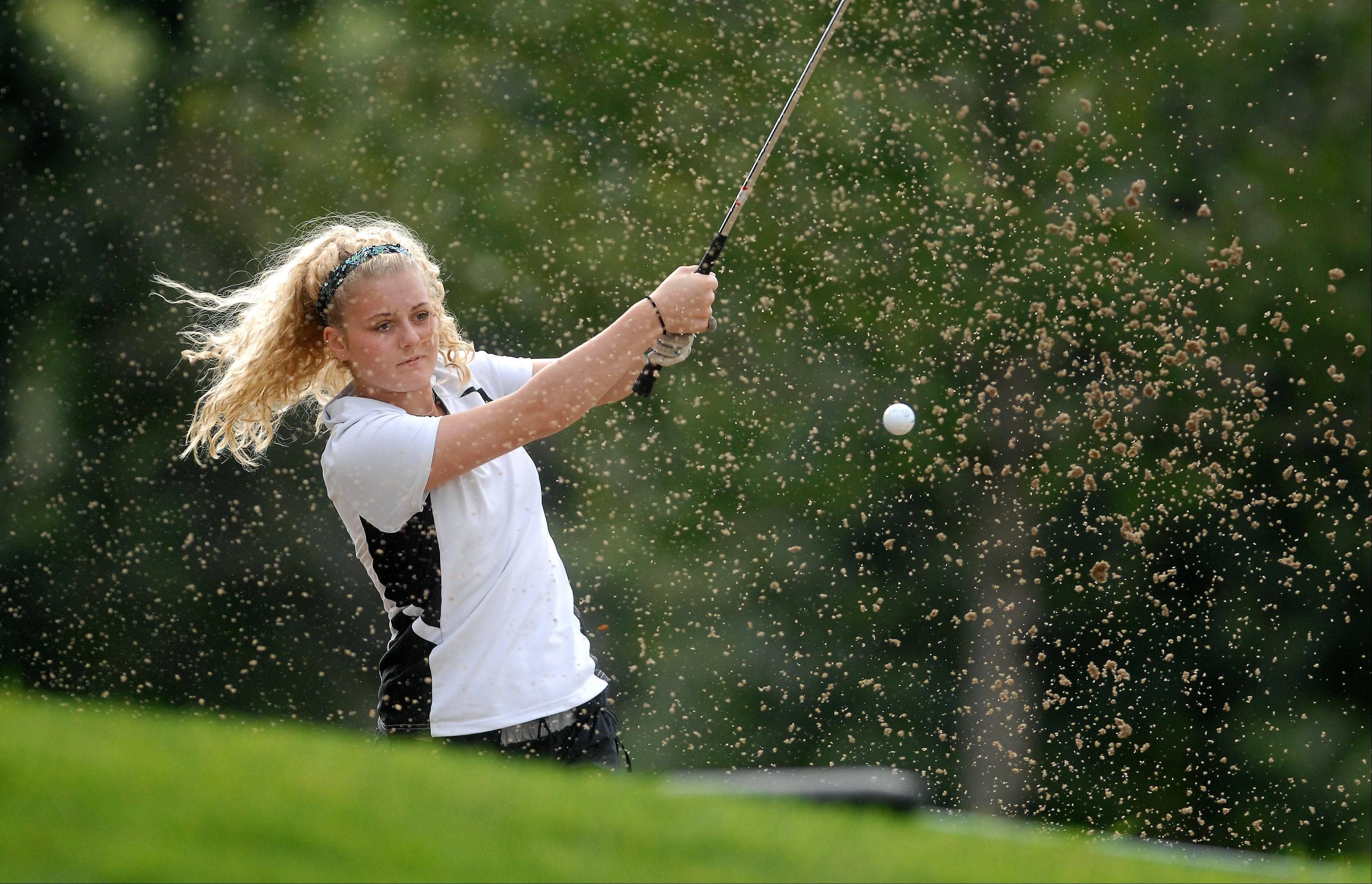 Senior Kaitlynn Woloszyk of Jacobs os one of the top returning girls golfers in the Fox Valley this season.