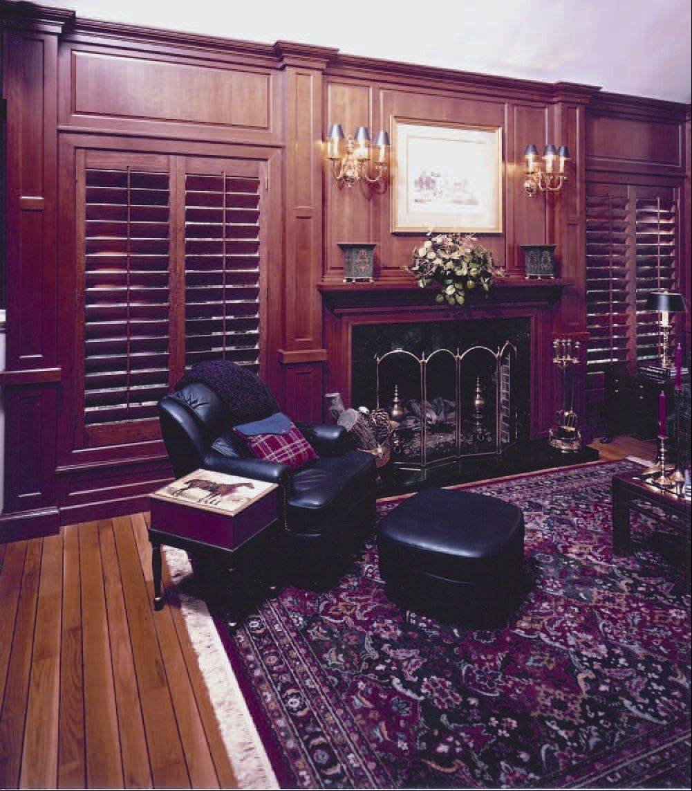 Wooden shutters can be finished in a variety of colors and stains.