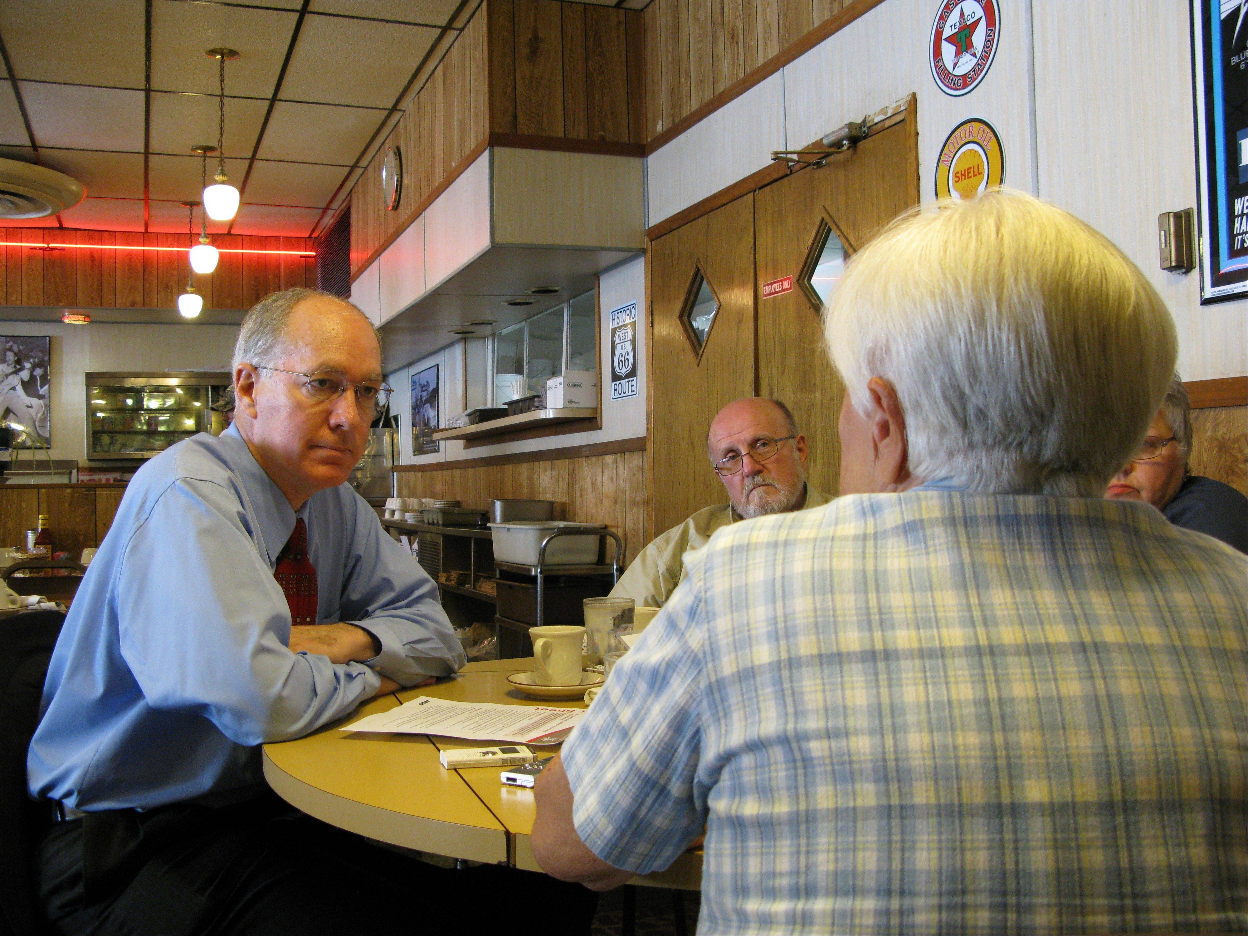 Democrat Bill Foster met with a small group of senior citizens in downtown Joliet Friday afternoon to get a feel for lingering concerns about the future of Social Security. Foster believes the solvency of Social Security won't be an imminent threat until 2037.
