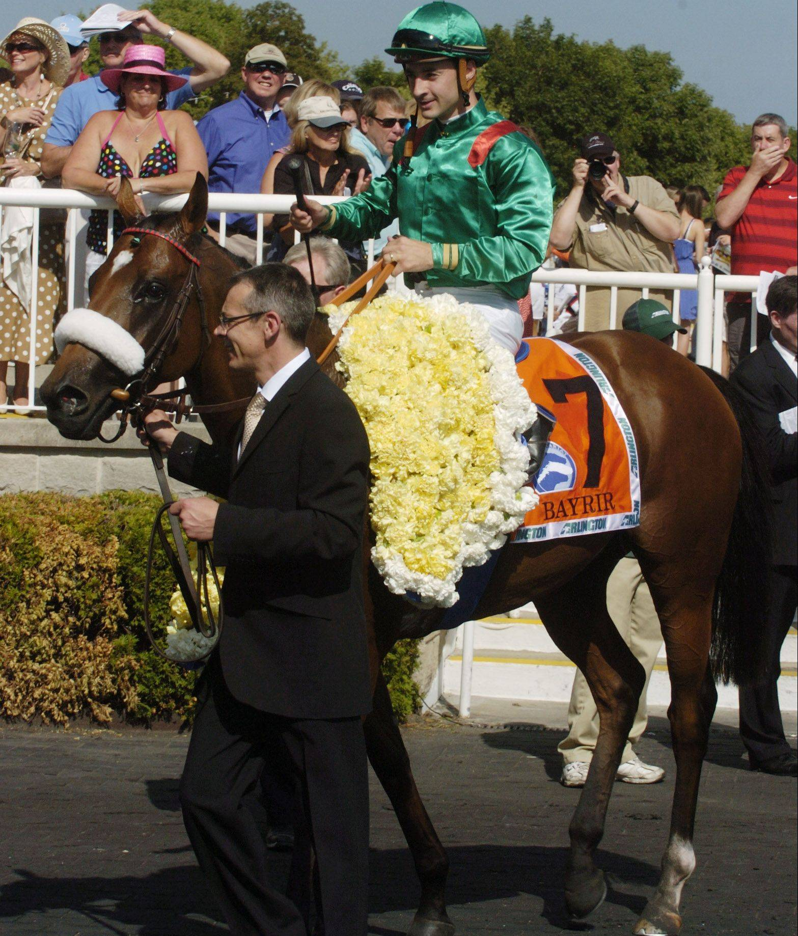 Bayrir, with jockey Christophe Lemaire, won the Secretariat Stakes on Saturday.