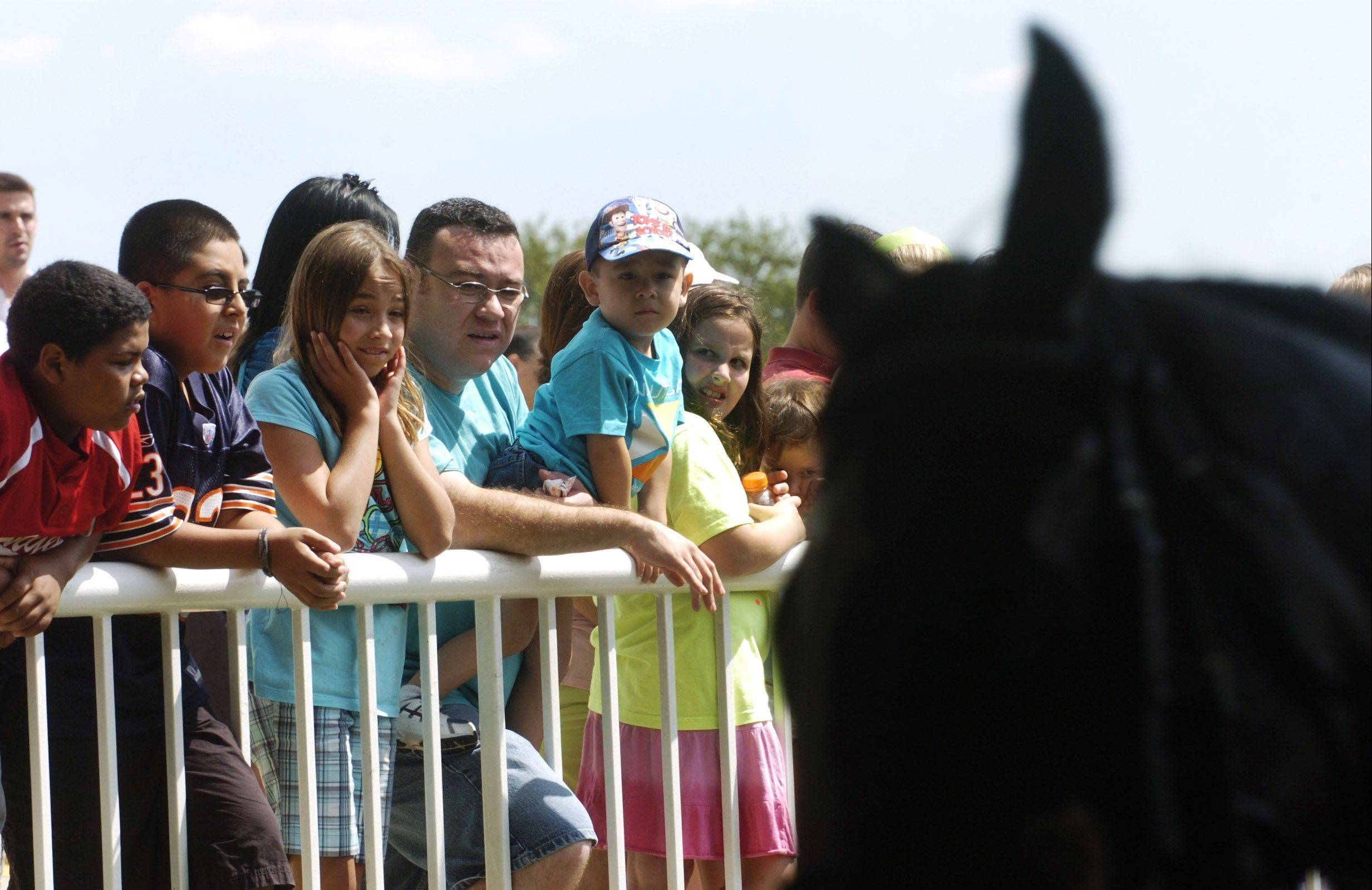 Fans get a good look at the racing talent during Million Day at Arlington Park on Saturday.