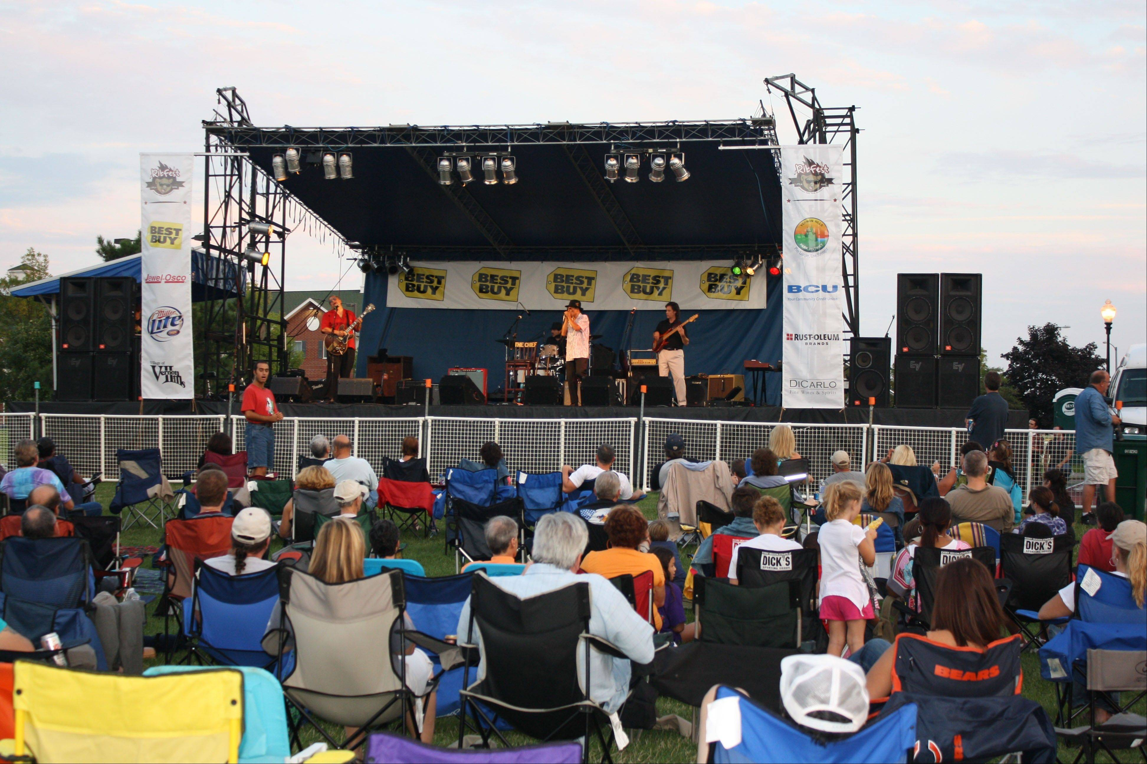 Music and food are the main attractions at the Vernon Hills Park District's Little Bear Ribfest Aug. 24 and 25.