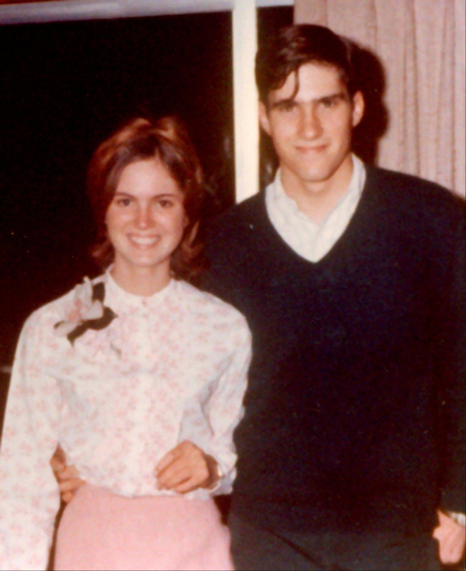 "This April 1965 photo provided by Romney for President, Inc., shows Mitt Romney, right, with future wife Ann Davies at her 16th birthday party in Bloomfield Hills, Mich. The couple was married in 1969. To the yearbook editors at the all-girl Kingswood School, Ann Lois Davies' destiny seemed pretty obvious. ""The first lady,"" the entry beside the stunning blond beauty's photo in the 1967 edition of ""Woodwinds"" concluded. ""Quiet and soft spoken."""