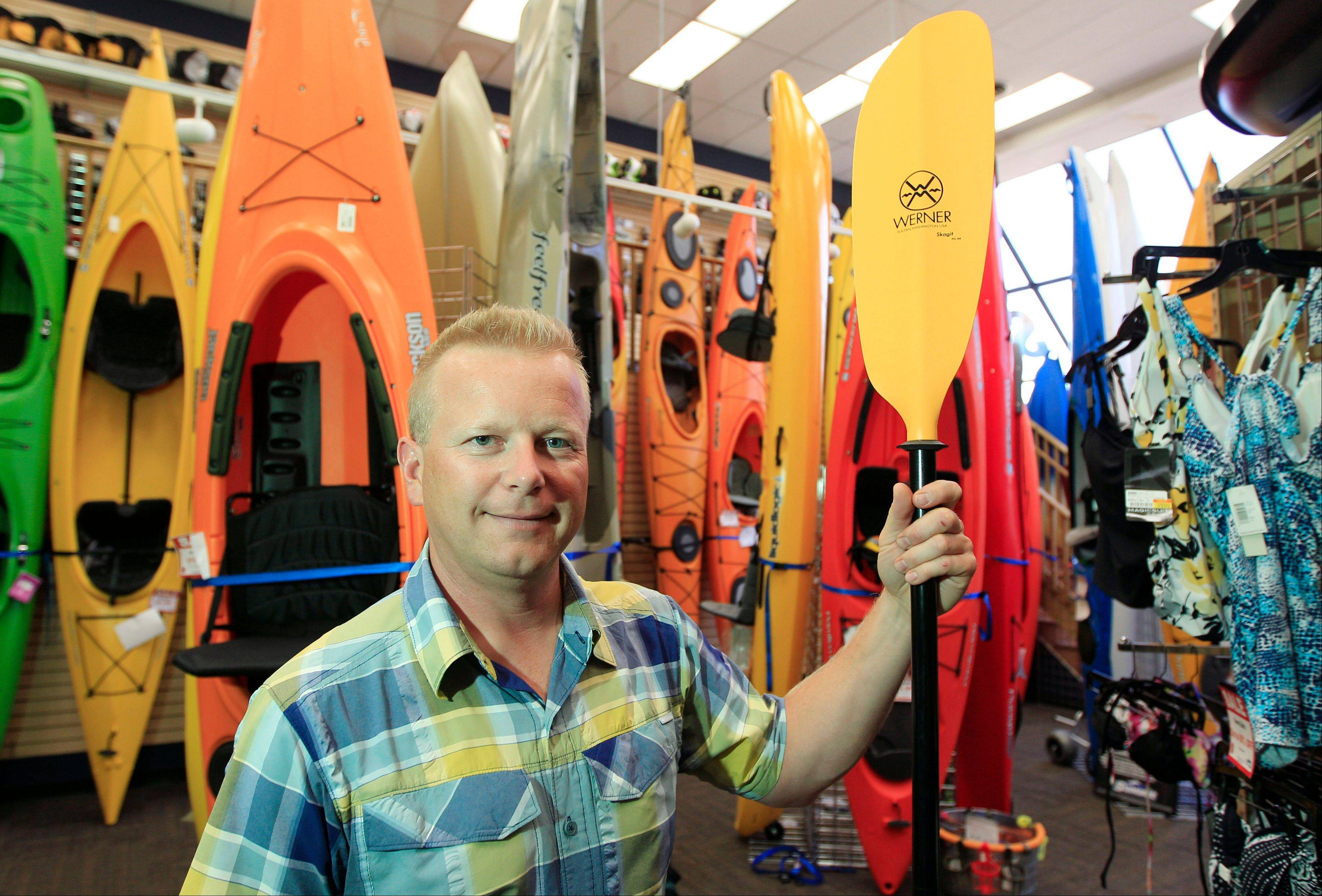 Andy Schepper, vice president of Summit Sports in Keego Harbor, Mich., says having a big online retail operation has helped insulate Summit. Schepper says the stores bring in only 25 percent of sales.