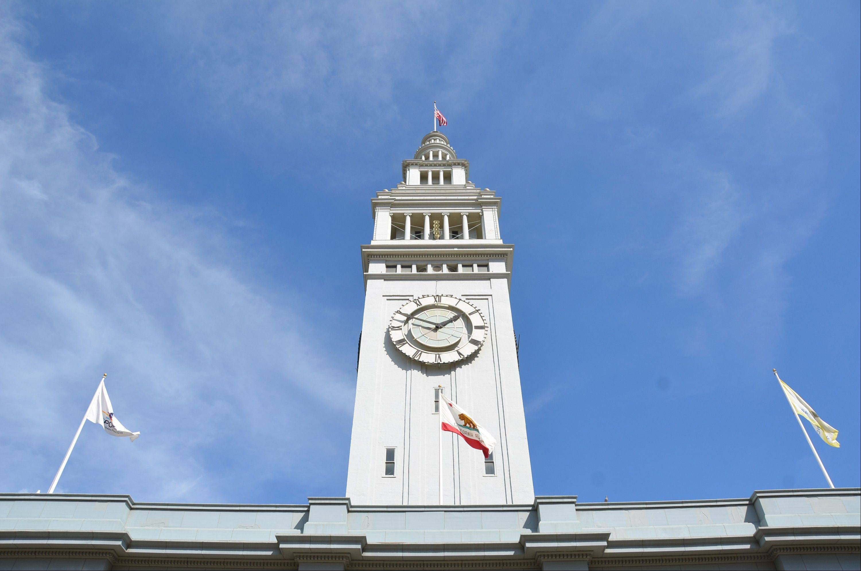 The Streets of San Francisco bike tour includes the Ferry Building on the Embarcadero at the foot of Market Street. The indoor Marketplace has a wide selection of food vendors, cafes and shops.