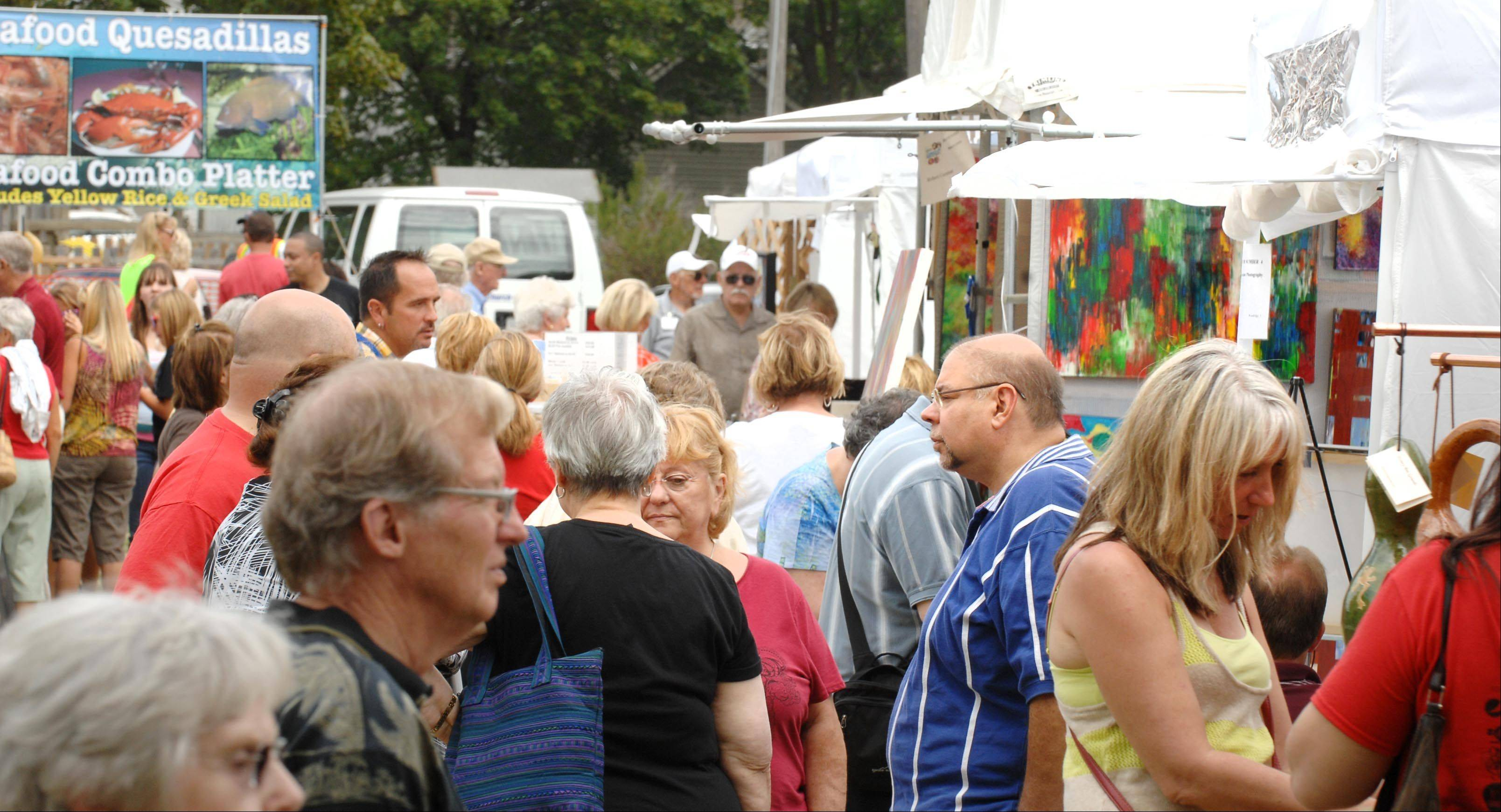 The aisles were full of browsers Sunday during Huntley Artfest, which organizers said doubled its attendance since its first year in 2011.