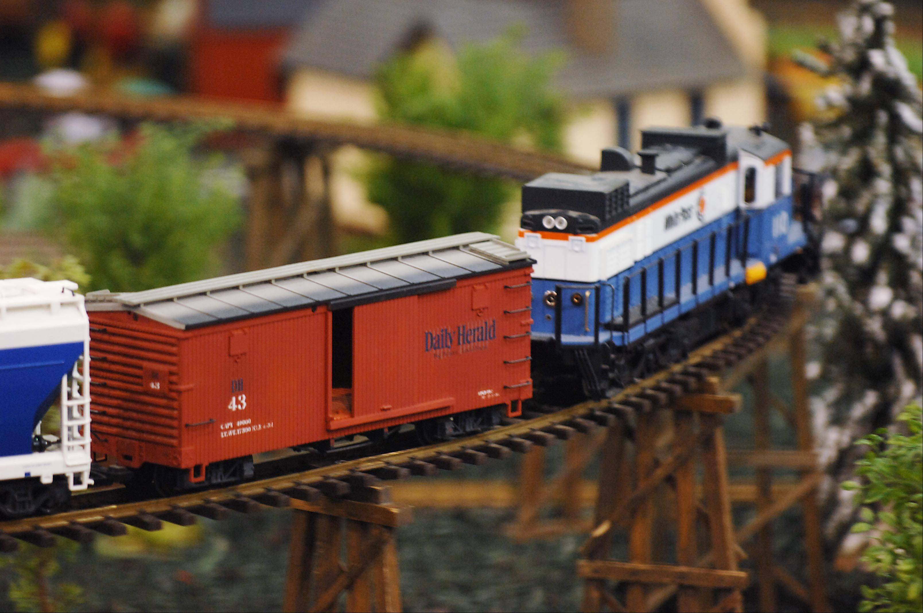A garden scale train Sunday at the 28th National Garden Railway Convention at the Pheasant Run Resort in St. Charles. The convention brought 1,500 people from across the country to celebrate their love of model trains.