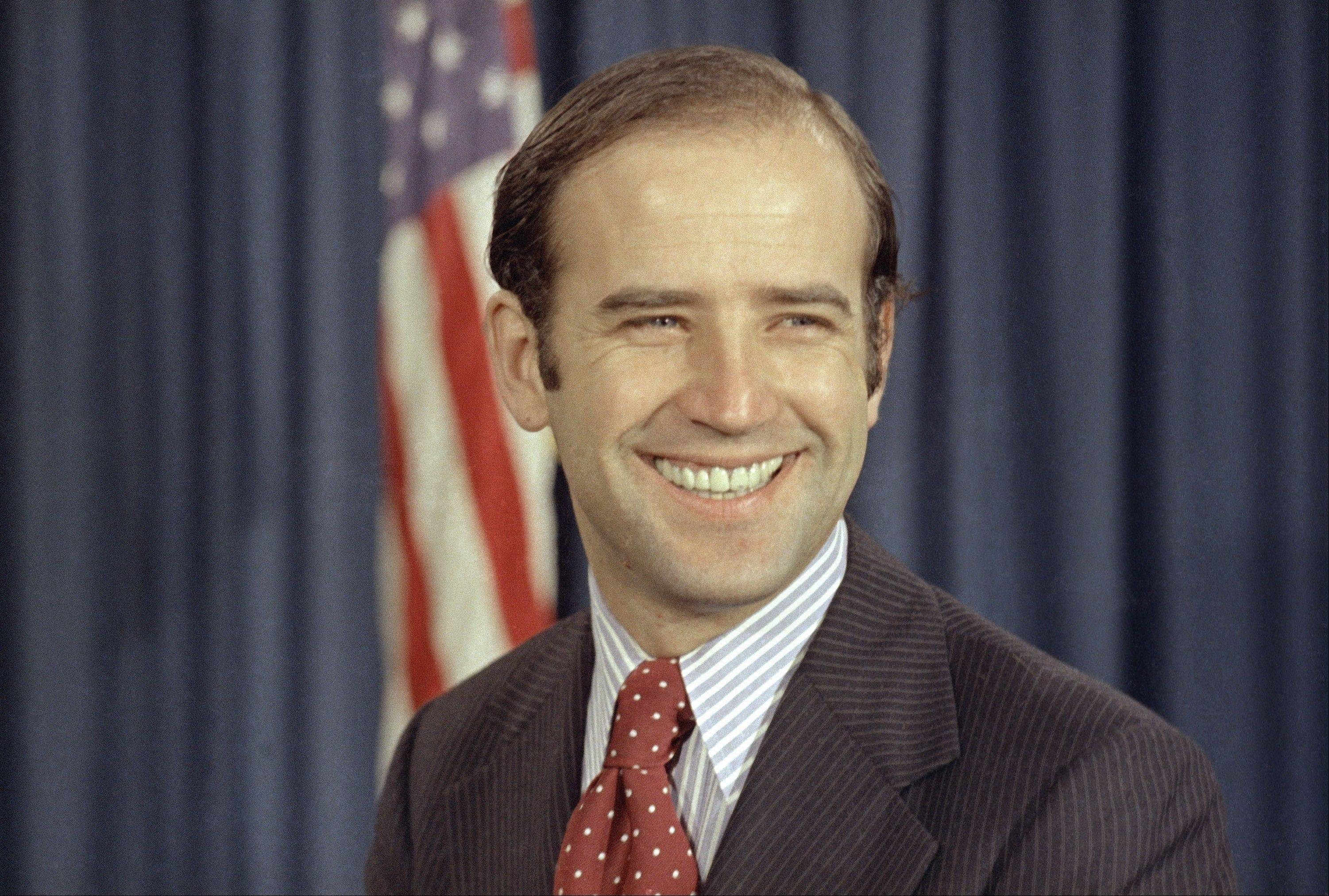 In this Dec. 13, 1972 file photo, the newly-elected Democratic senator from Delaware, Joe Biden, is shown on Capitol Hill in Washington. In May, after Joe Biden tripped up his boss by voicing support for same-sex marriage while the president remained on the fence, there was speculation about whether the remarks were spontaneous or deliberate. But to those who know Biden, there was no doubt. He was just speaking his mind.