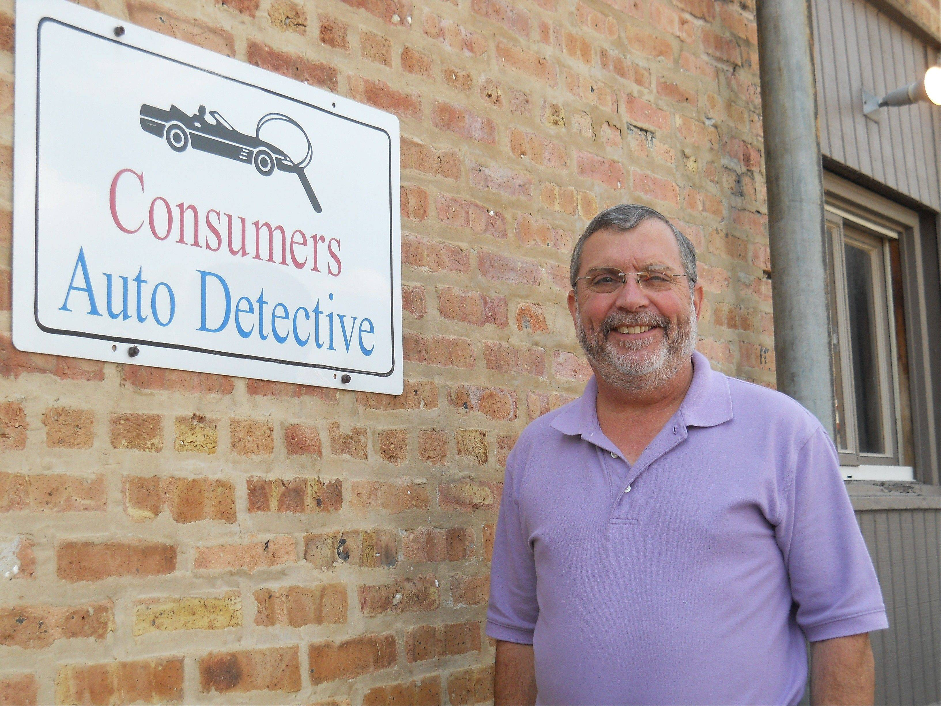 Kenneth J. Klein, owner of Consumers' Auto Detective in Elgin.