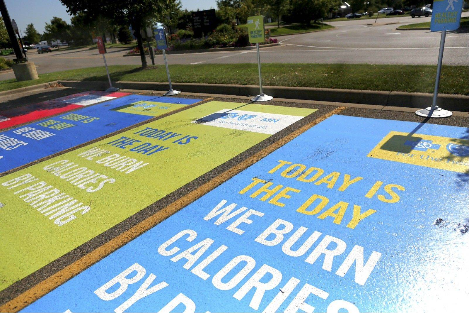 SHNS PHOTO BY RENEE JONES SCHNEIDER/MINNEAPOLIS STAR TRIBUNE Blue Cross and Blue Shield of Minnesota is campaigning to get mall shoppers to park farther away to increase exercise.
