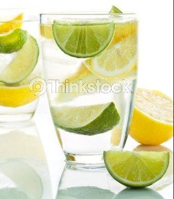 Adding a lemon or lime to your water can help balance the acid in your body and rid it of toxins.