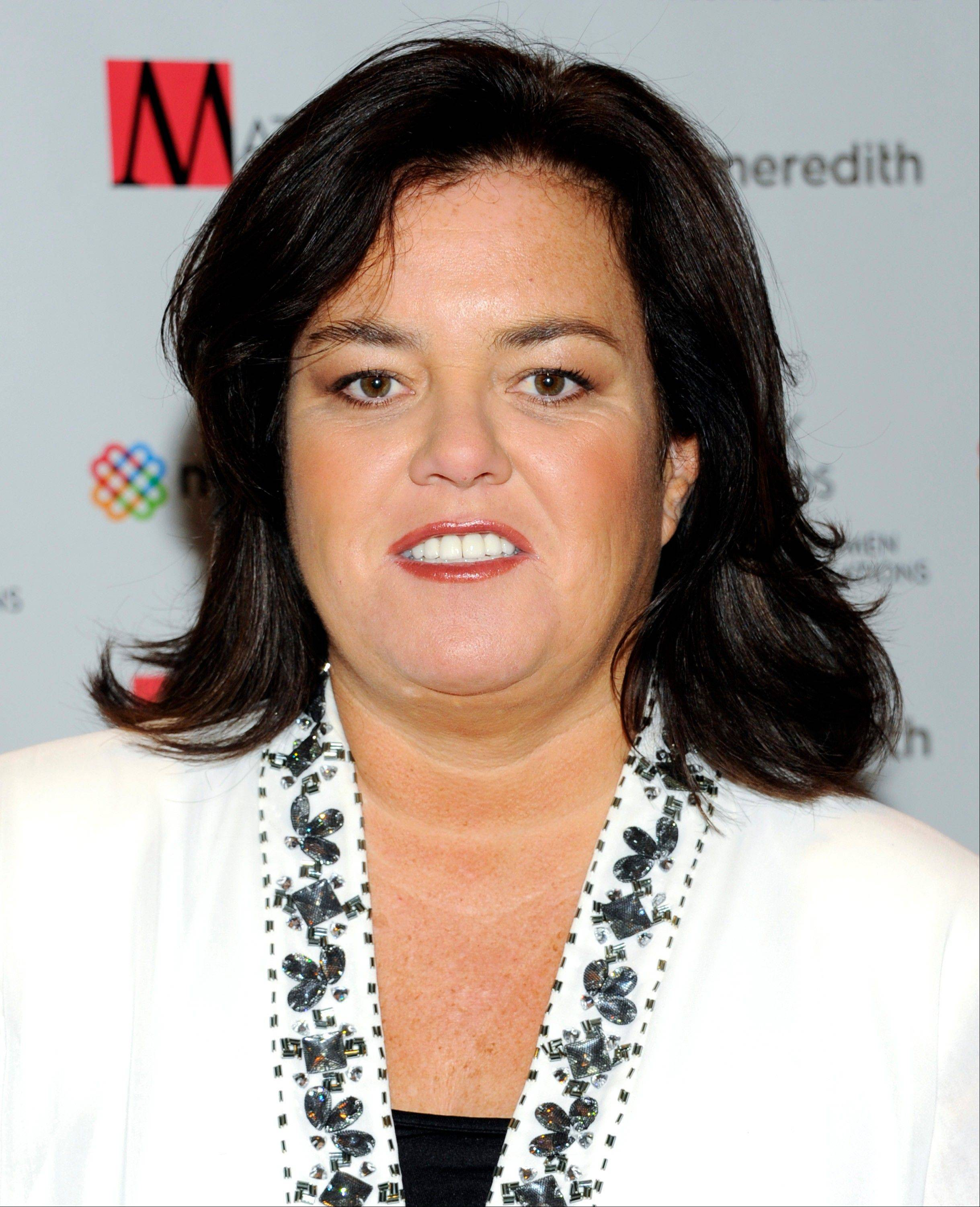 In this April 11, 2011 file photo, television personality Rosie O'Donnell attends the New York Women in Communications' 2011 Matrix Awards in New York. O'Donnell said on her blog, Monday that she's ìlucky to be here after suffering a heart attack last week.