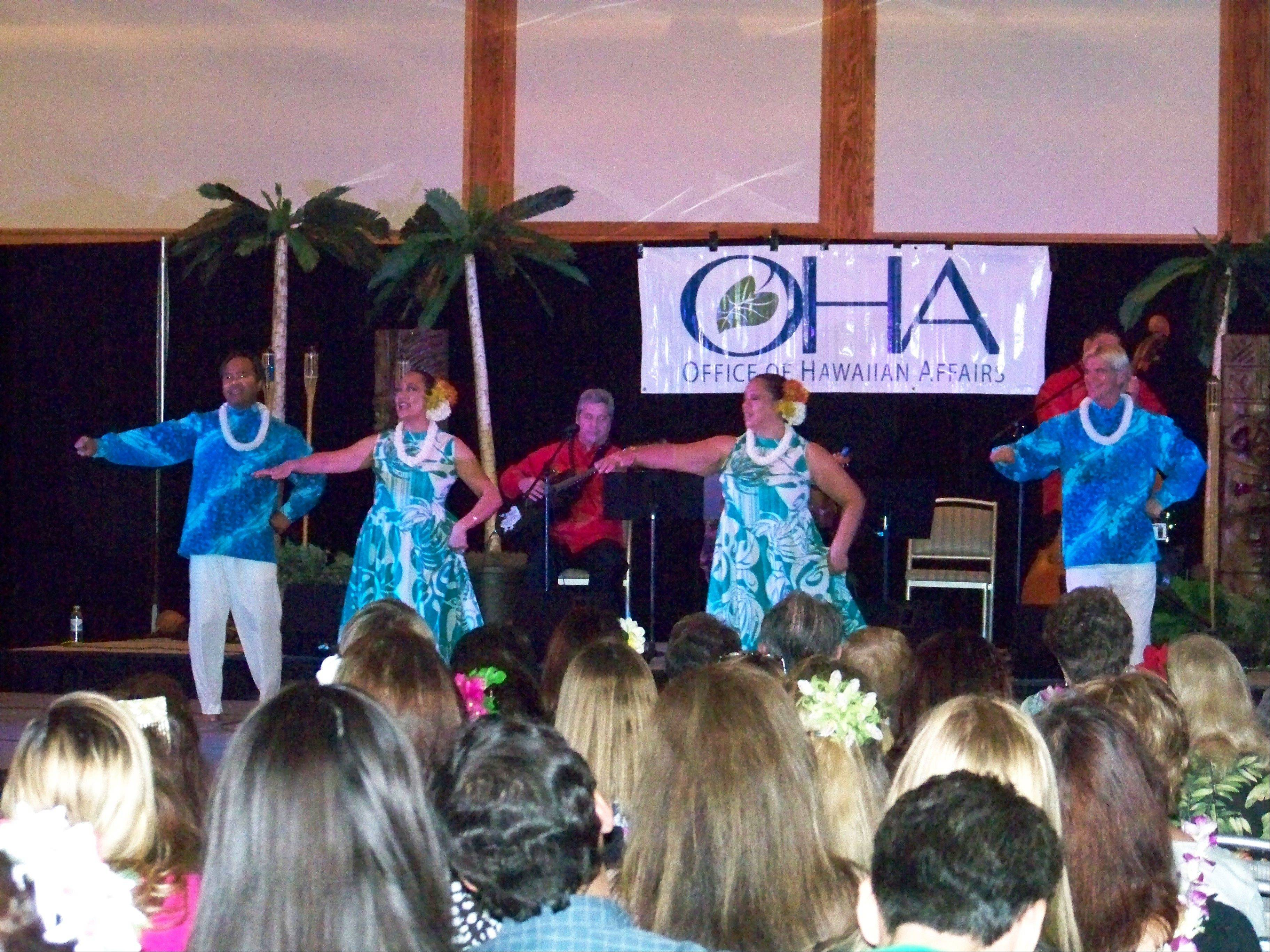 Hula dancers and participants in the hula days workshops perform for the public during the three-day event in September.