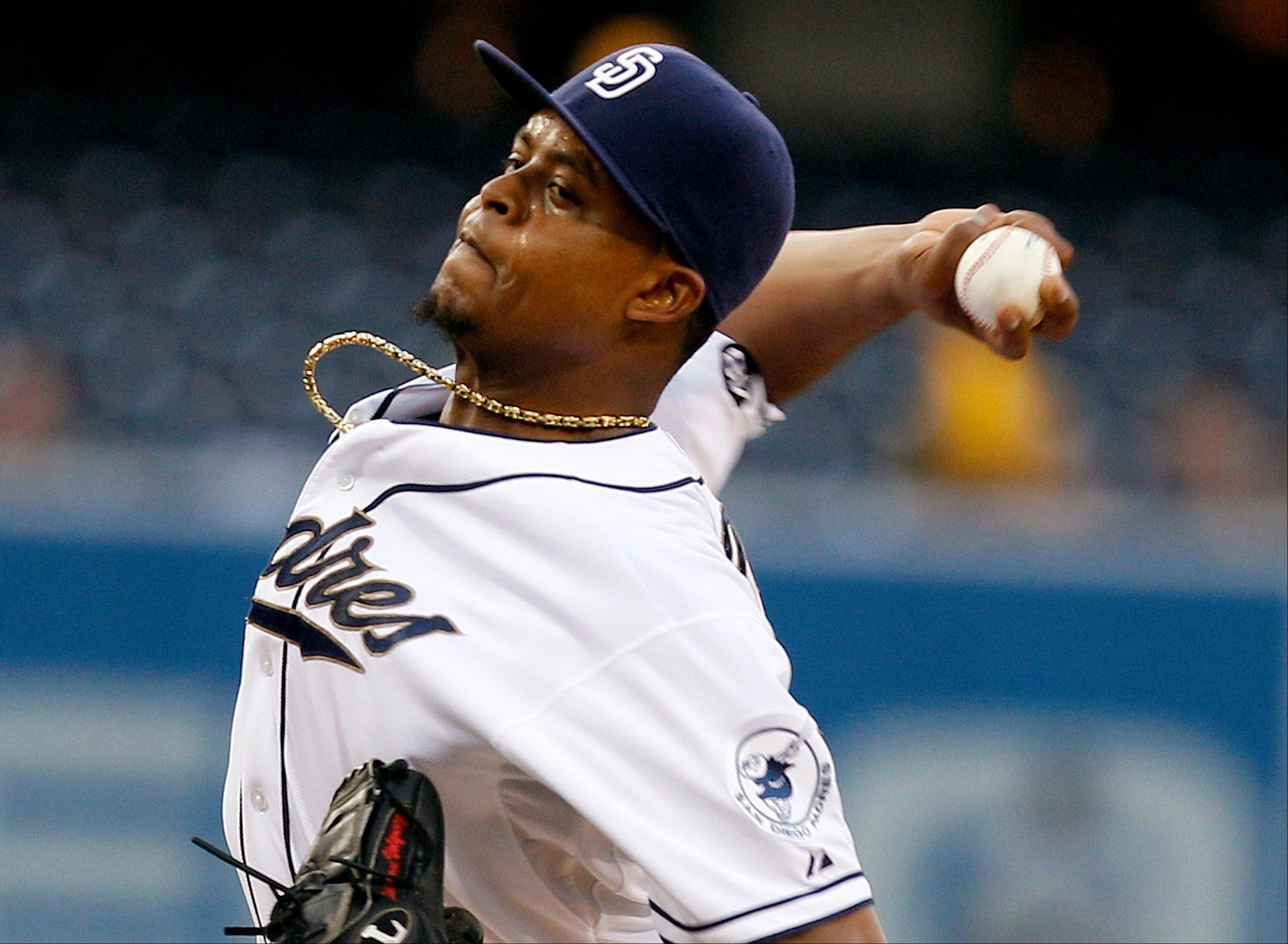 San Diego starter Edinson Volquez allowed one run and five hits Monday night at home against Pittsburgh.