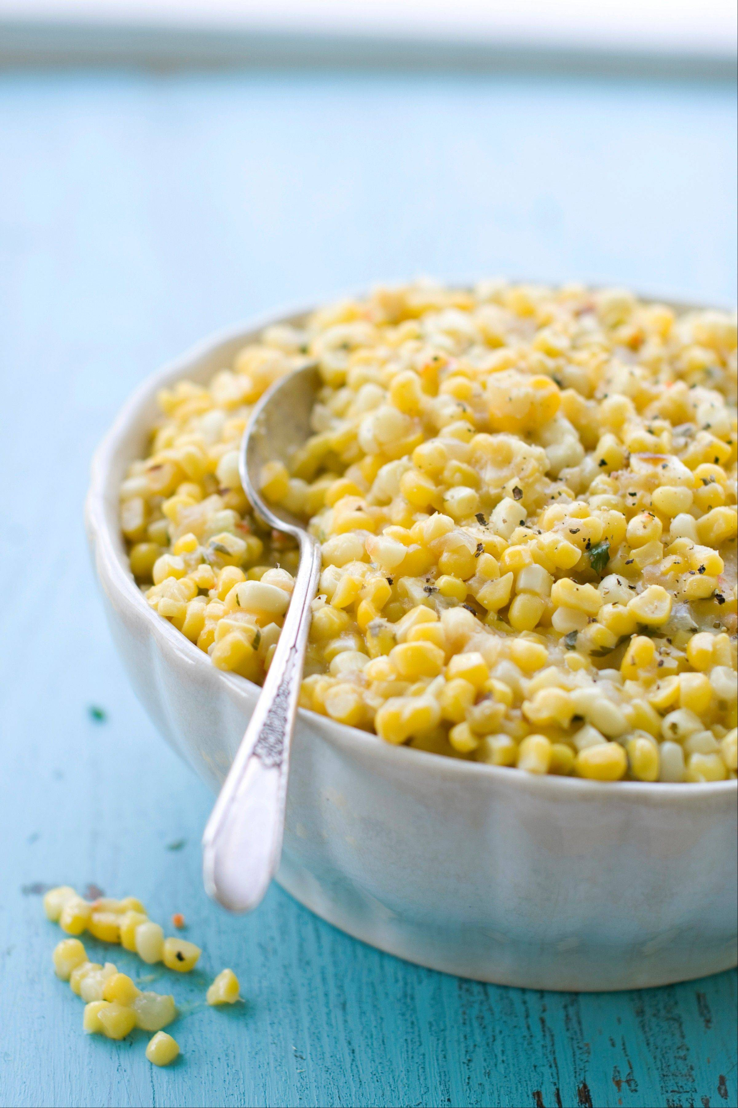 Sara Moulton uses pureed corn to achieve a silky richness without any additional fat in this spicy creamed corn side dish.