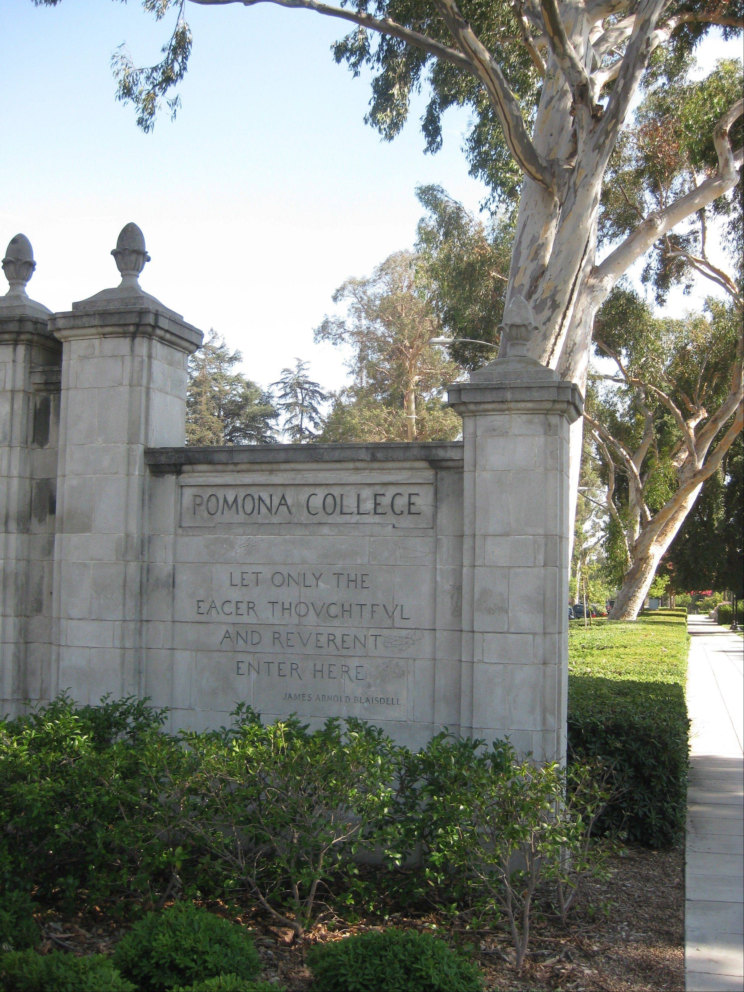 "This Pomona College gate reads, ""Let only the eager, thoughtful and reverent enter here."" That's also good advice for suburban parents entering the college search process."