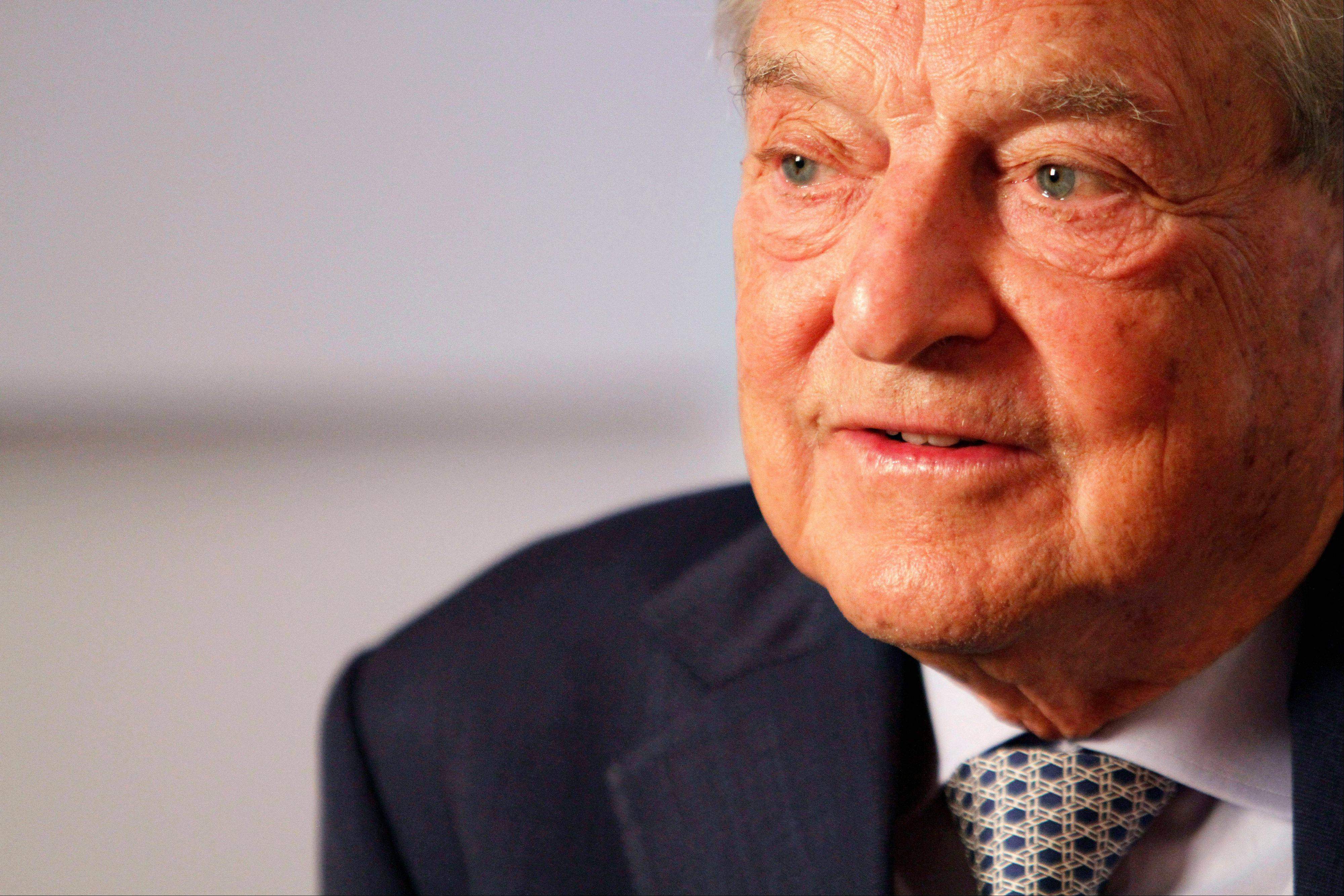 Billionaire financier George Soros announced Monday, Aug. 21, 2012, that he is taking a minority stake in soccer club Manchester United. Soros disclosed in a regulatory filing on Monday that he owns 7.85 percent of Manchester United's Class A shares.