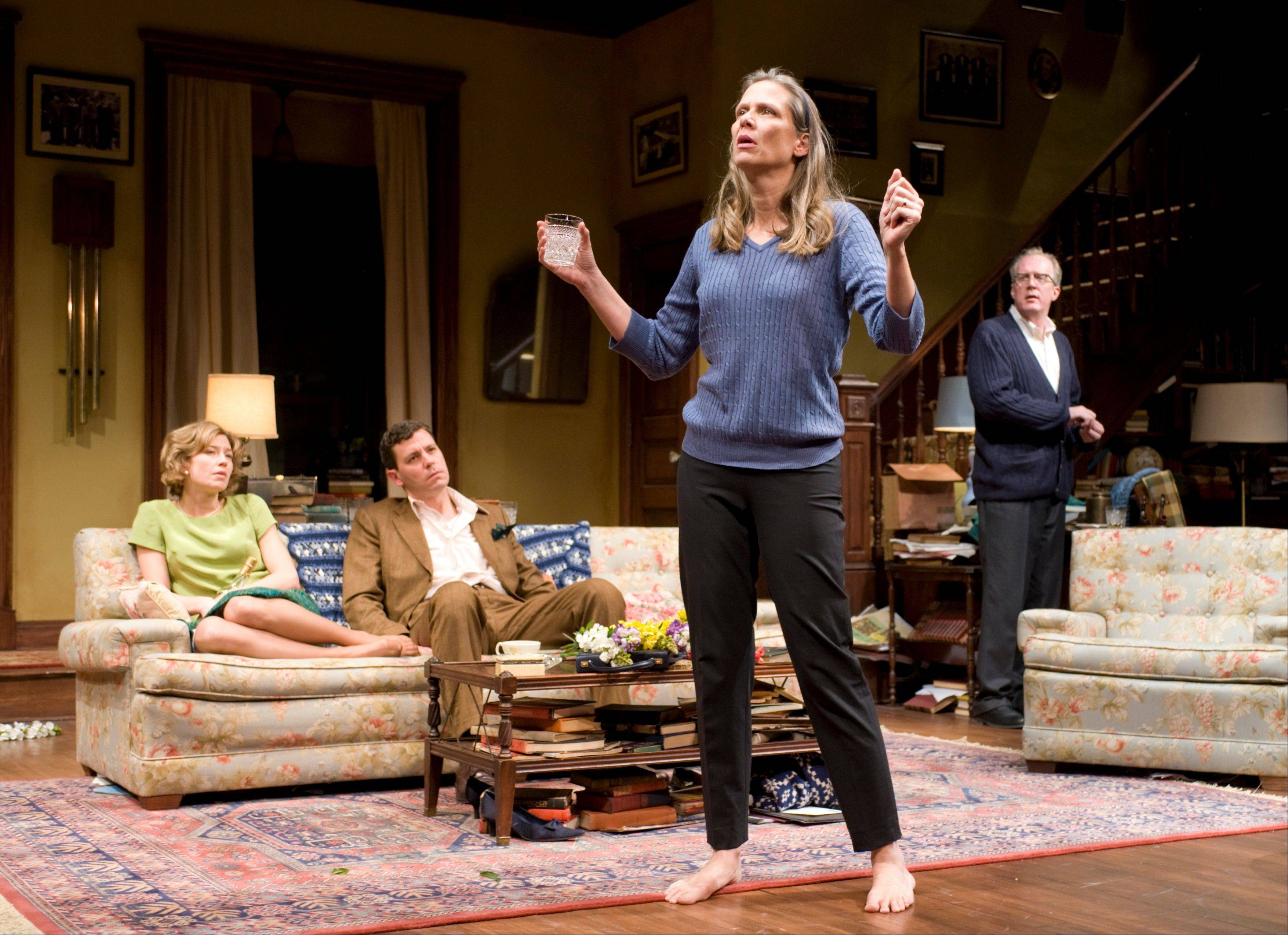 "Carrie Coon, left, Madison Dirks, Amy Morton and Tracy Letts star in ""Who's Afraid of Virginia Woolf"" on Broadway."