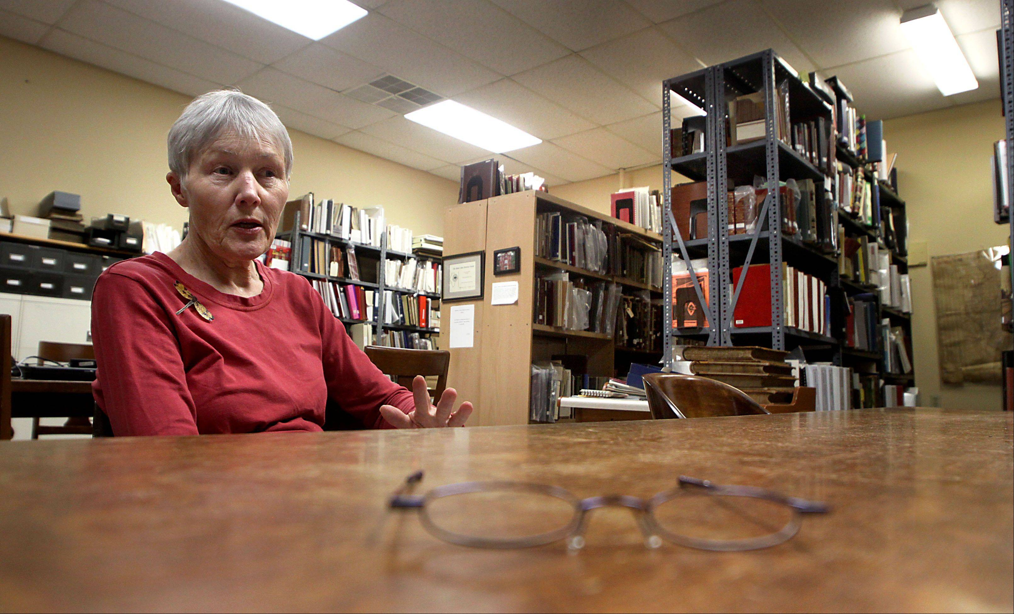 Nancy Fike is retiring from her position as administrator at the McHenry County Historical Society in Union at the end of the month. Here, Fike recalls moments over the years spent researching in the society library.
