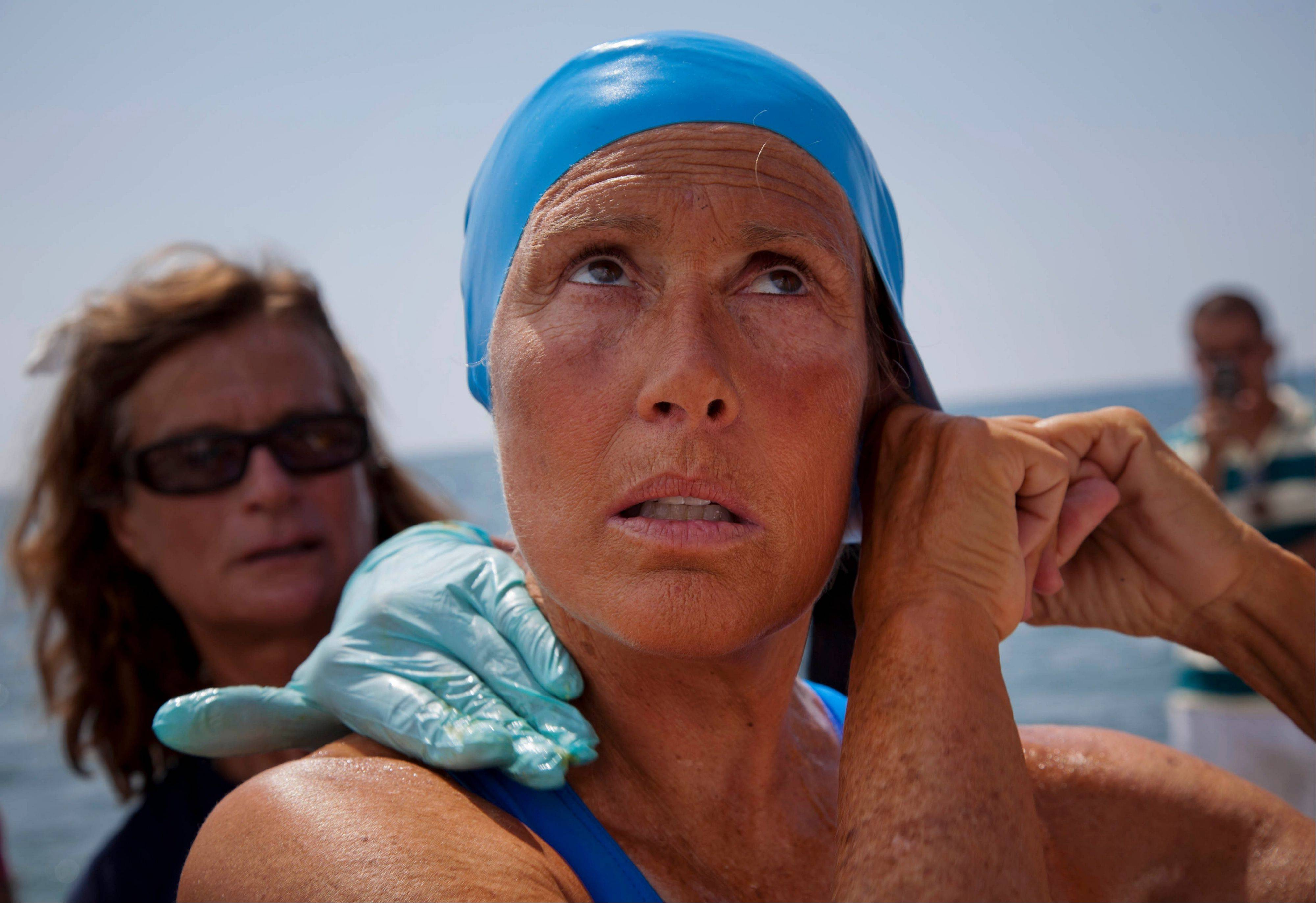 Diana Nyad is back on shore after a failed fourth attempt to swim across the Straits of Florida.