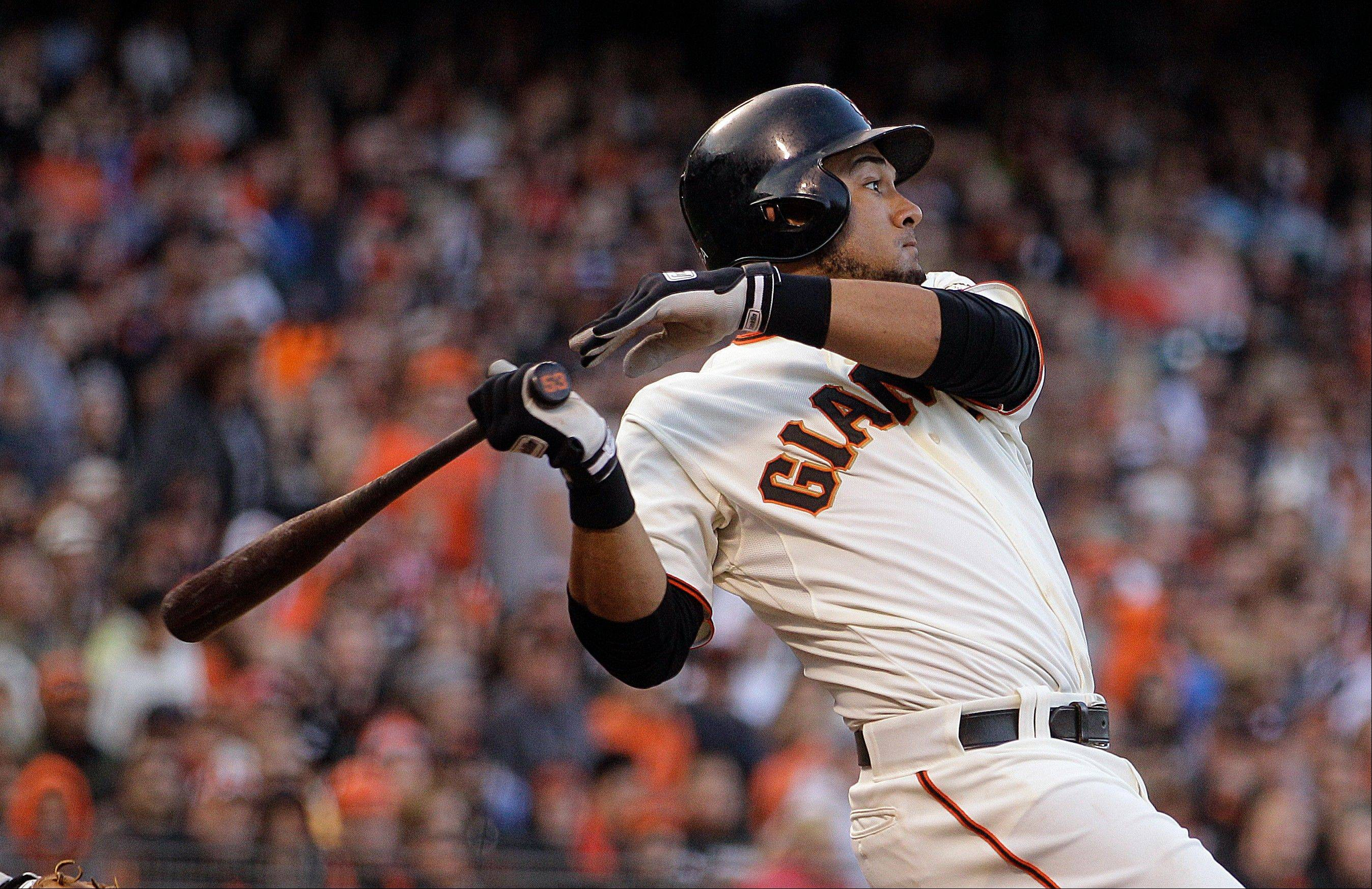 San Francisco's Melky Cabrera was batting .346 with 11 home runs and 60 RBI before his 50-game suspension.