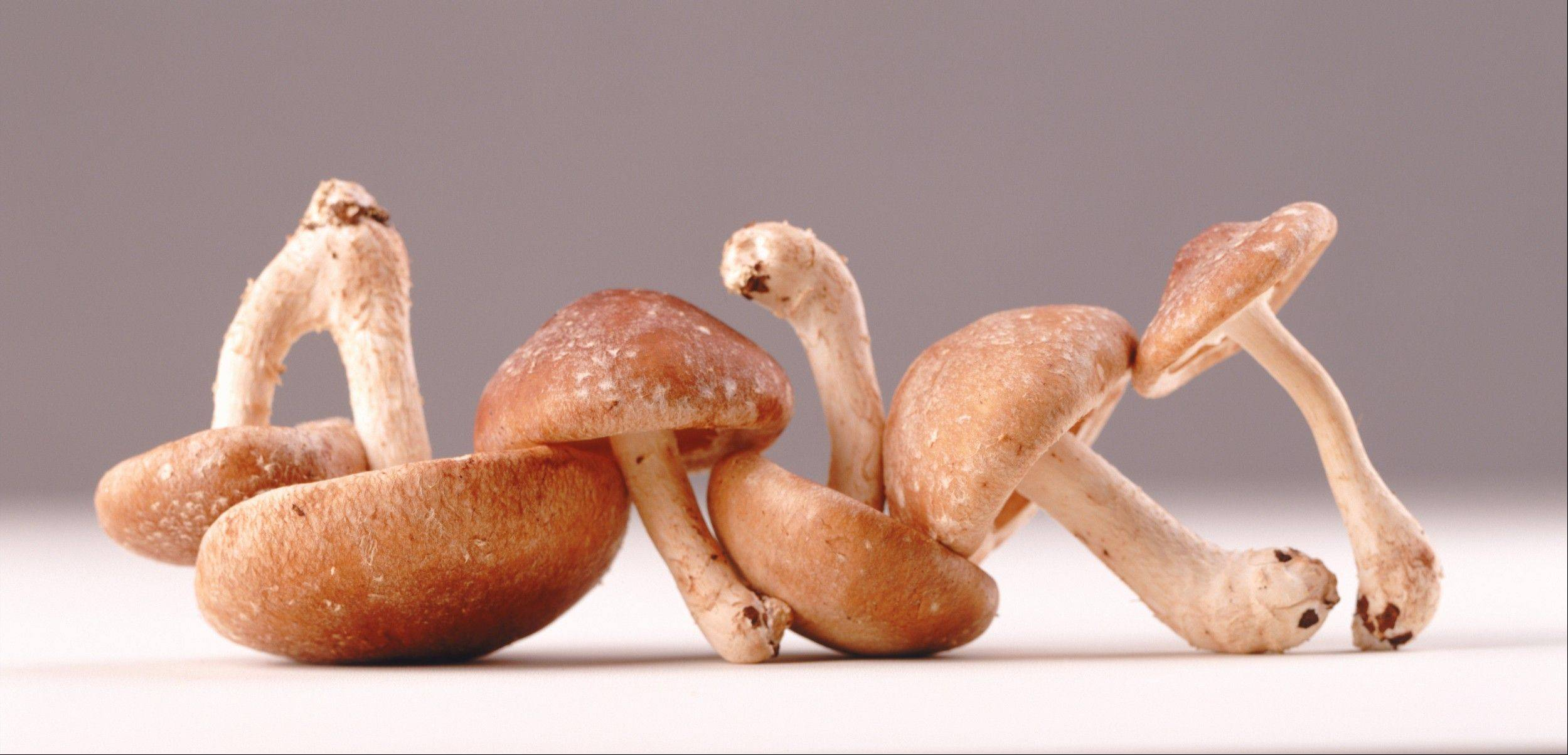Shiitake stems are tough and should be trimmed before cooking.