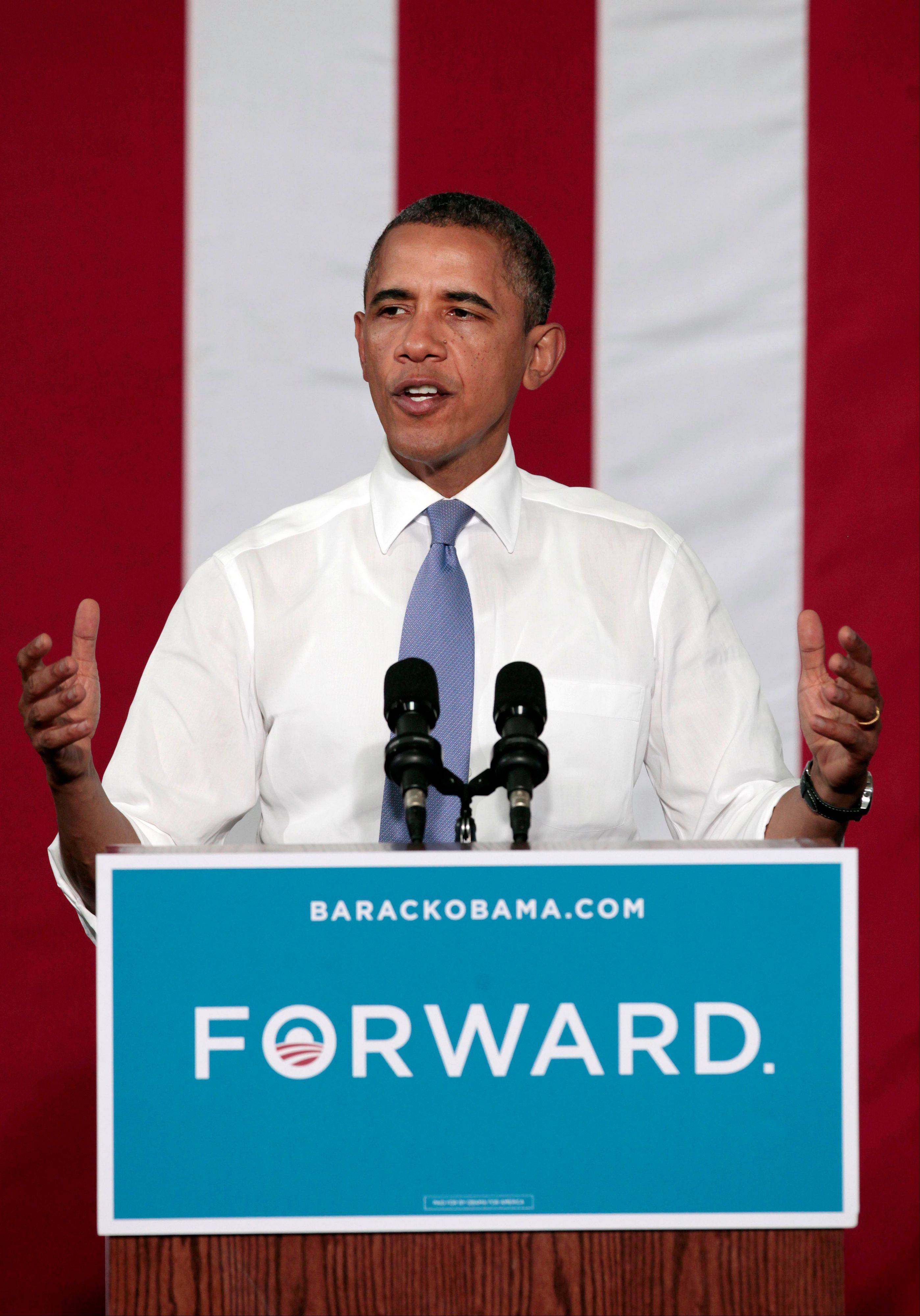 President Barack Obama speaks during a campaign event at Truckee Meadows Community College, Tuesday, Aug. 21, 2012, in Reno, Nev.
