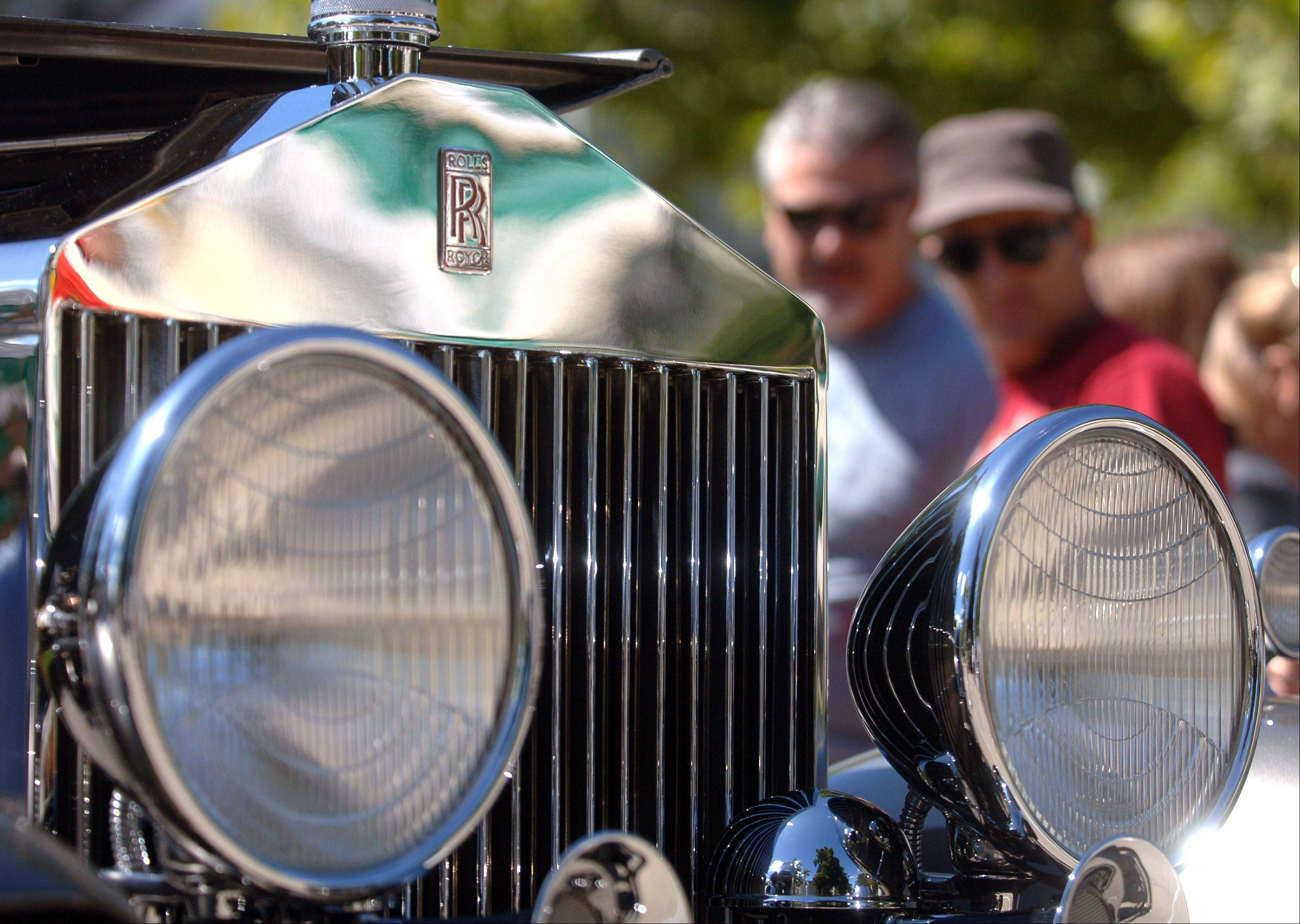 A 1927 Rolls-Royce Phantom I Croydon model catches the eye of passersby during a previous Geneva Concours d'Elegance classic car show.