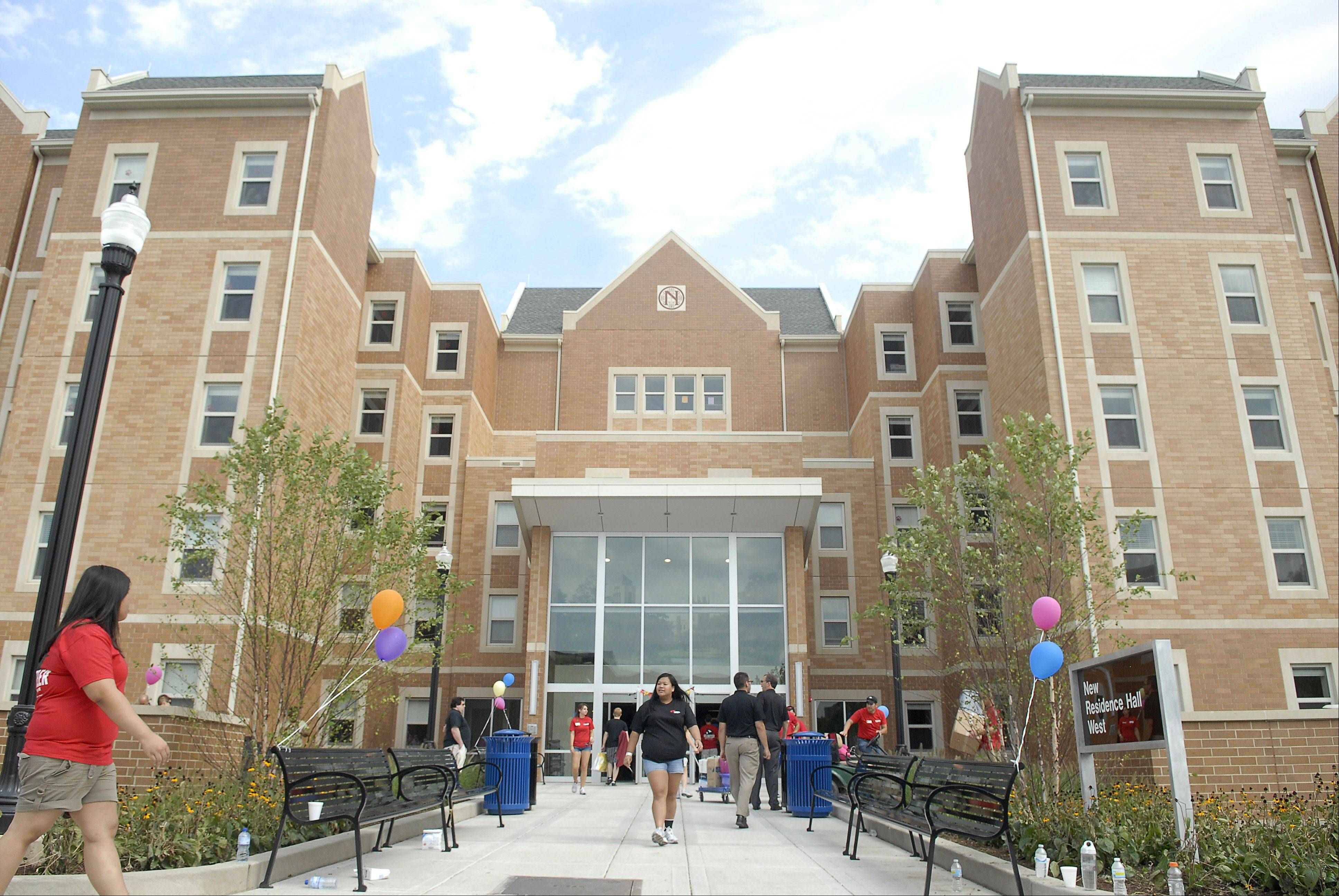 It was move-in day Thursday at New Residence Hall West, as well as across campus, at Northern Illinois University in DeKalb.