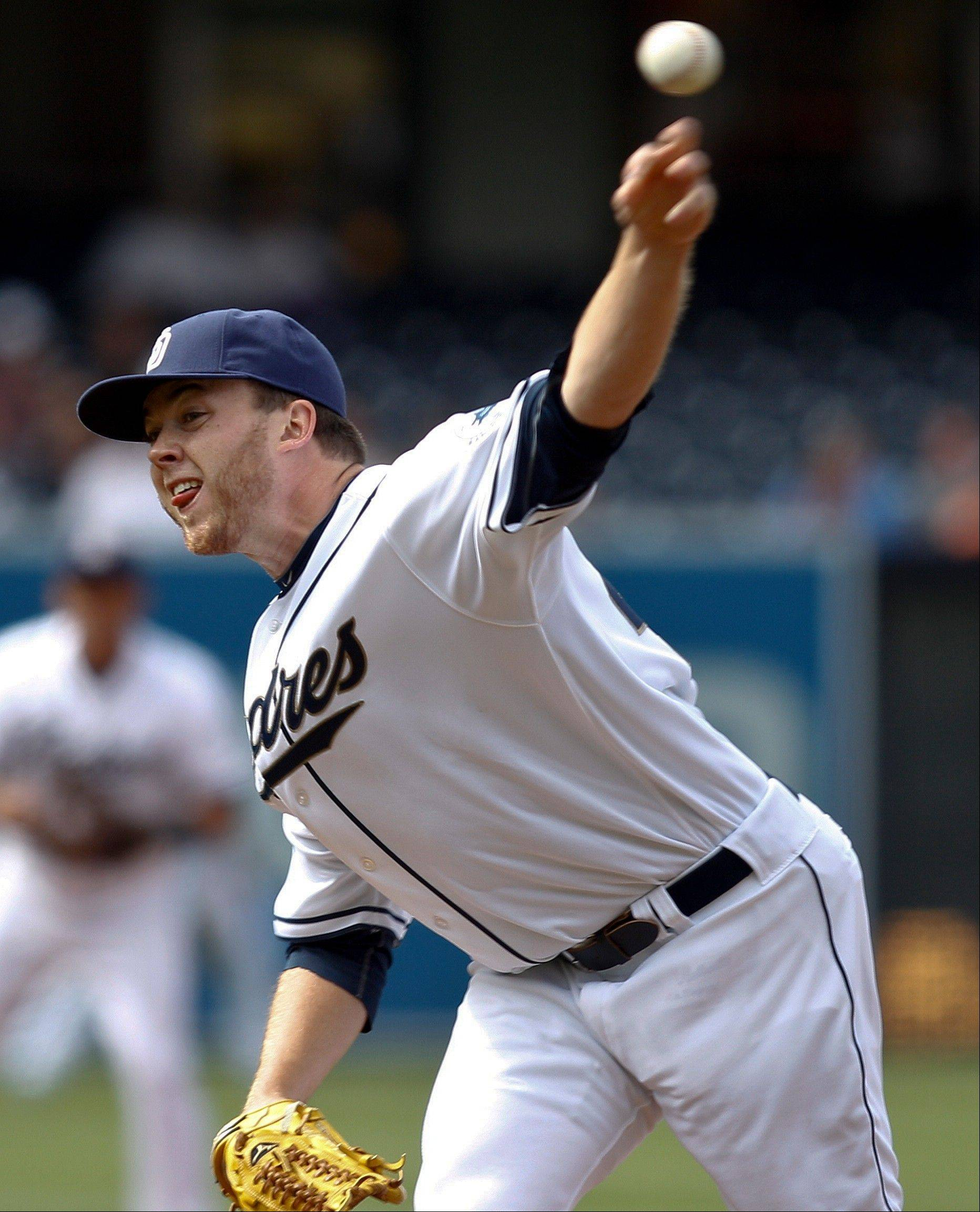 San Diego Padres starter Andrew Werner, making his major league debut, allowed four hits, walked four and struck out two Wednesday at home against Pittsburgh.
