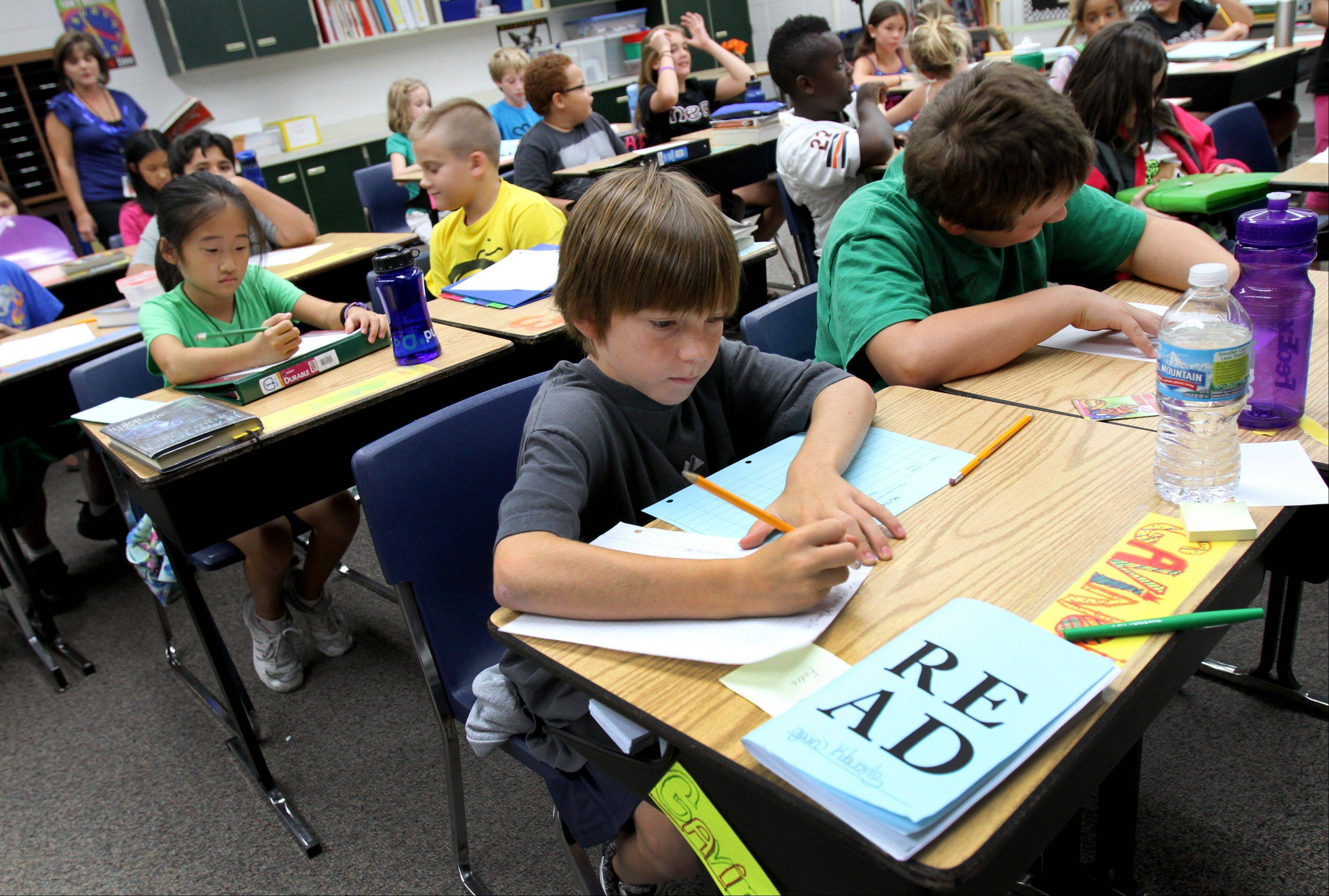 The average fifth-grade classroom at Naperville's Mill Street Elementary School now has 22 students, Principal Mary Baum said.