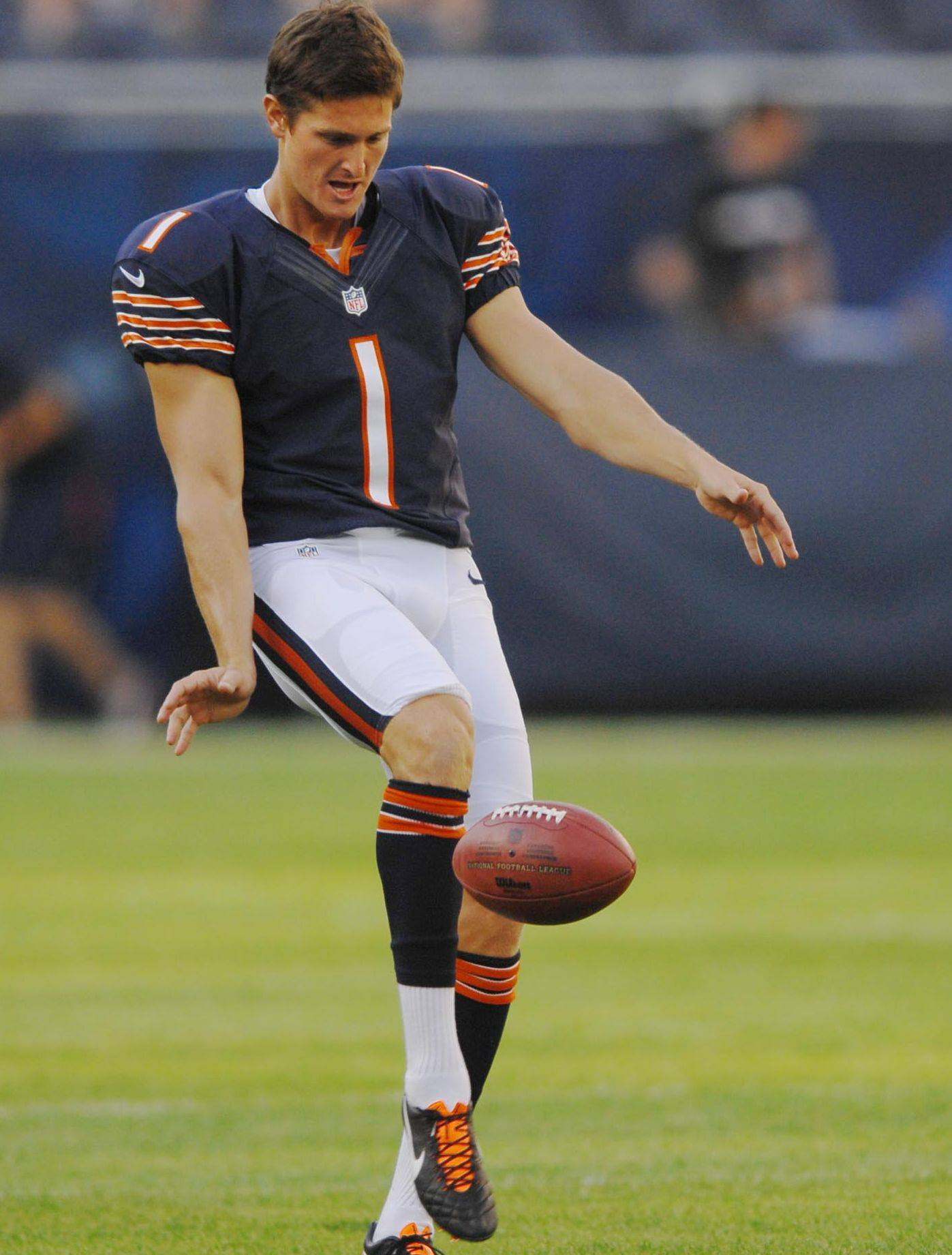 With Bears punter Adam Podlesh out with a hip flexor, backup Ryan Quigley (above) will get an opportunity Friday night against the Giants.