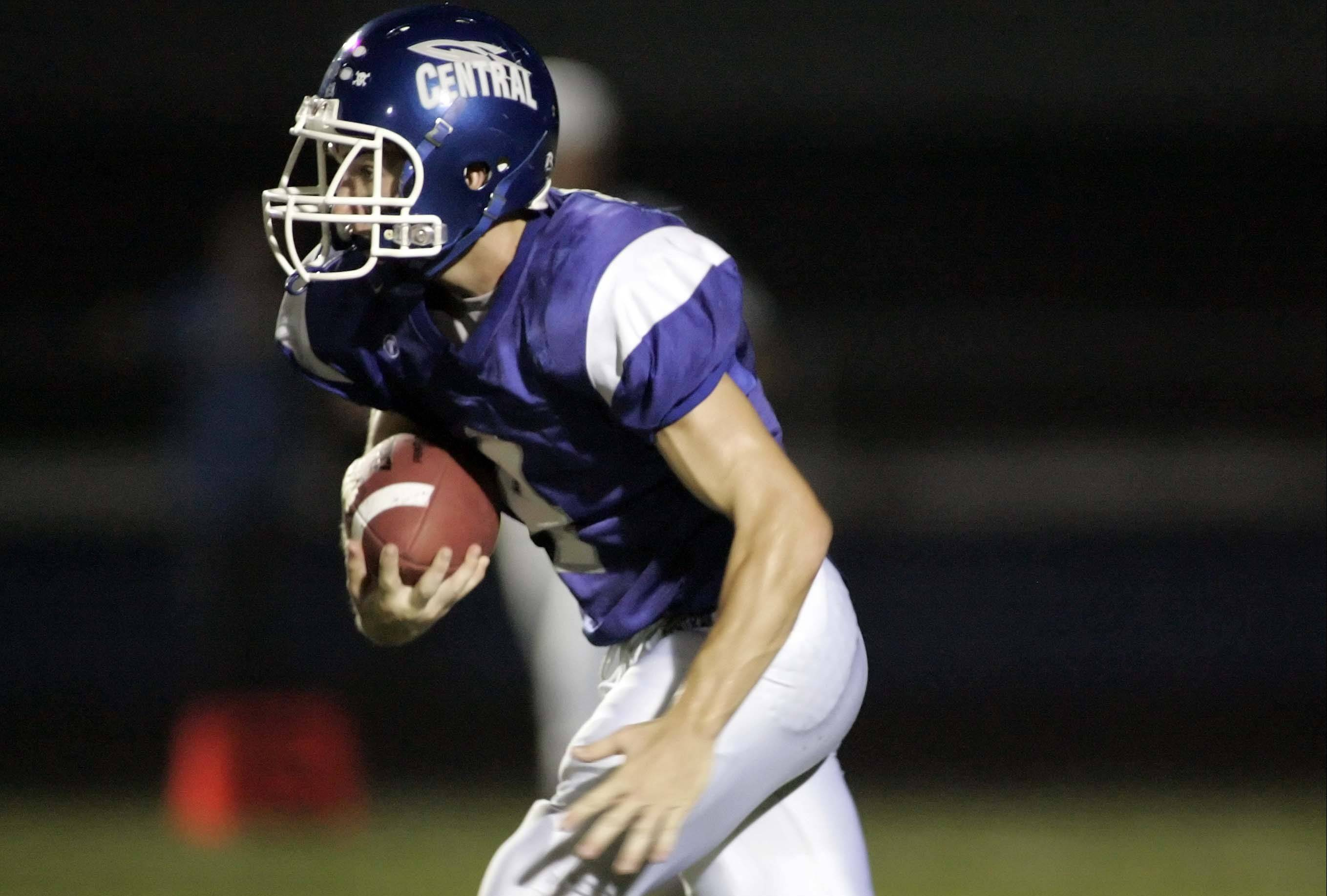 Burlington Central senior wide receiver Joe Breeden possesses breakaway speed.
