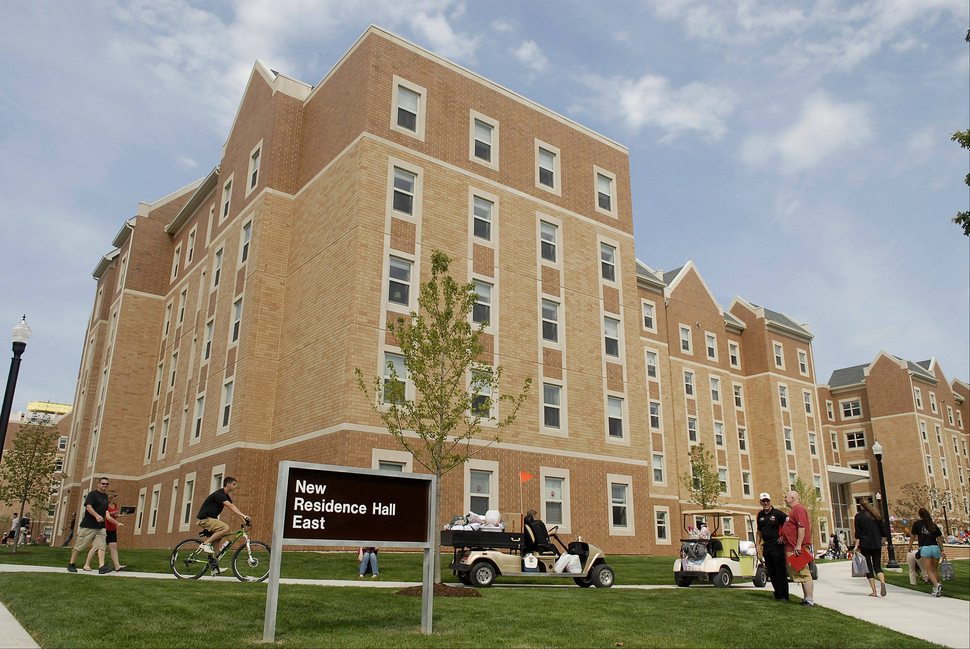 New Residence Hall East at Northern Illinois University in DeKalb on Thursday, August 23.