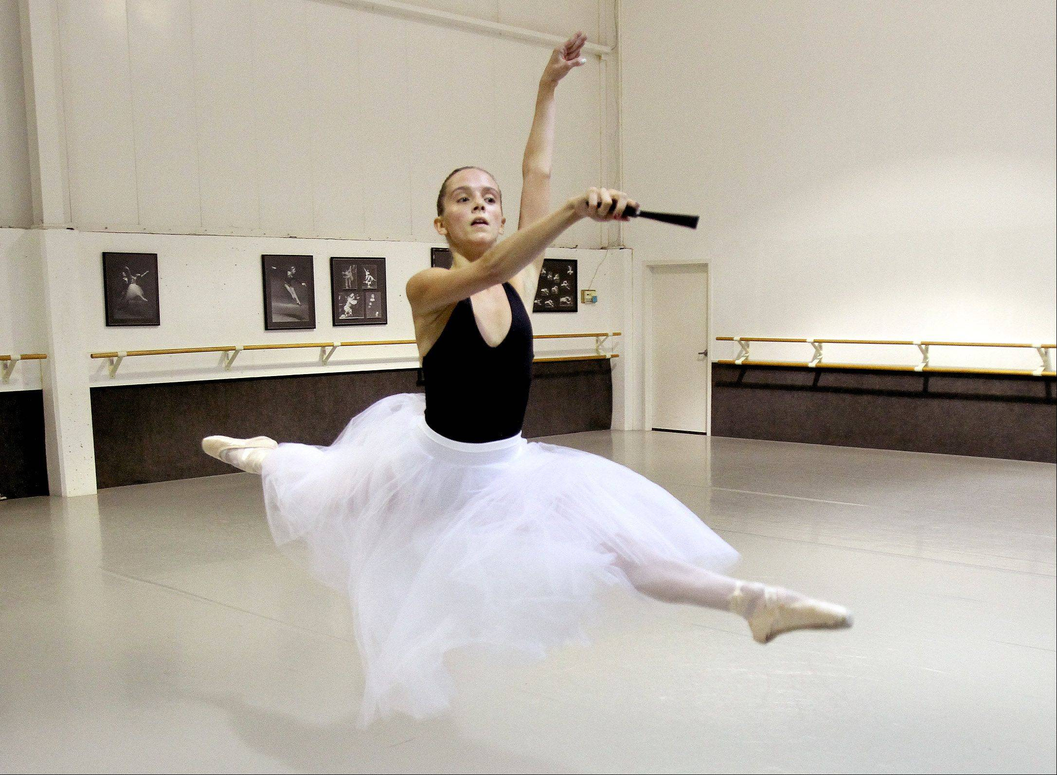 Casimere Jollette, 16, of Addison, trains at the Academy of Dance Arts in Downers Grove.