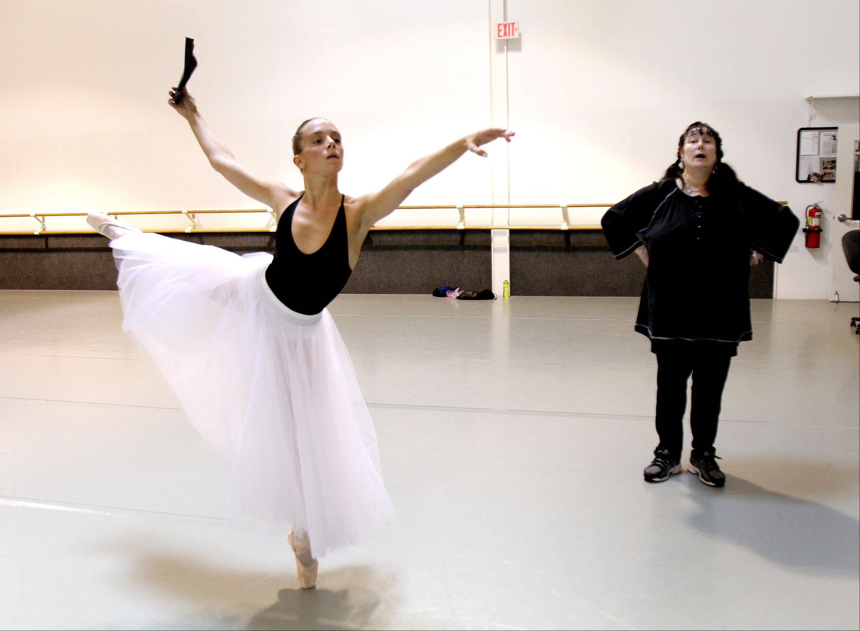 "Casimere Jollette, 16, of Addison, trains with Sherry Moray, founder of the Academy of Dance Arts in Downers Grove. Casimere is training to participate in the annual ""Youth America Grand Prix,"" which starts with a regional competition in January."