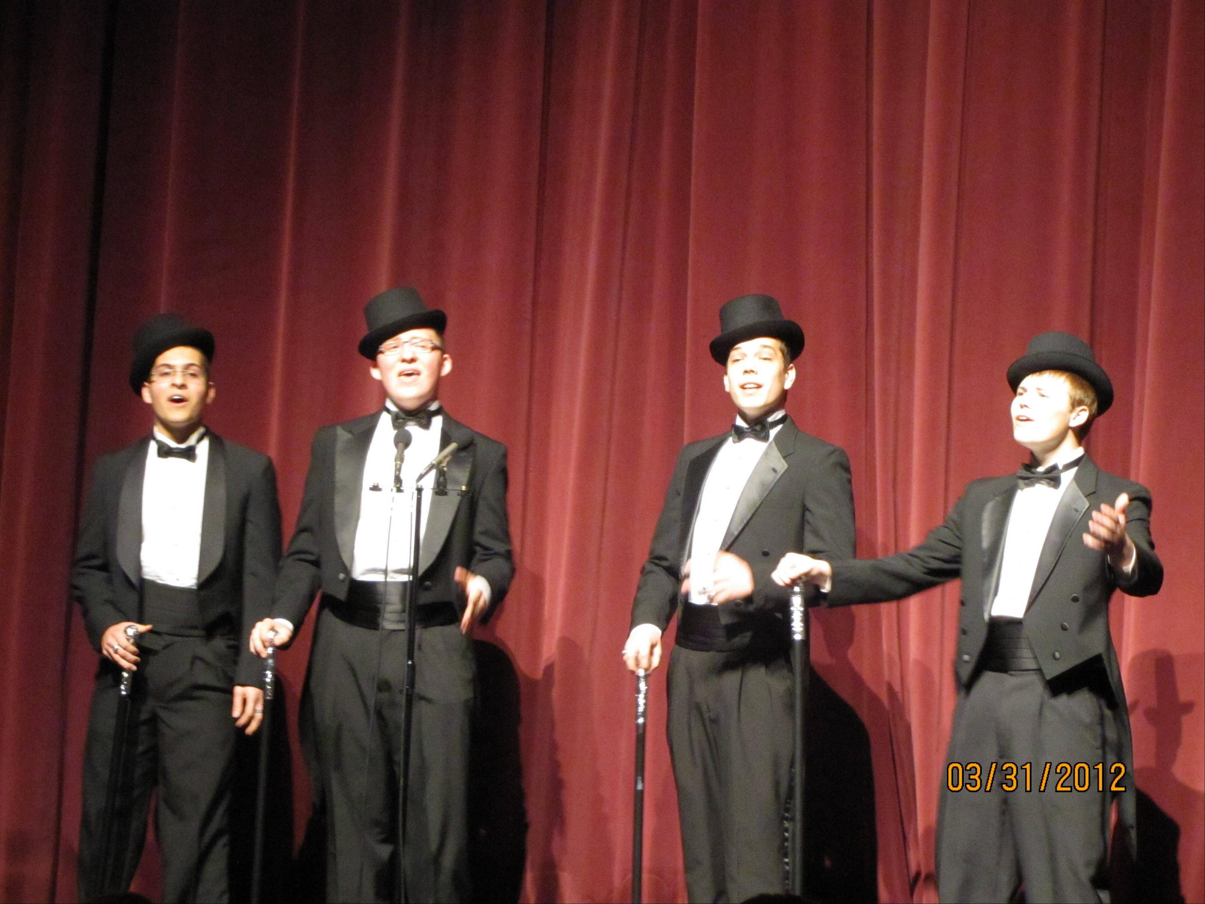 "Huntley High's Quartic Quartet will perform Sunday, Aug. 26 at the New Traditions Chorus show, ""Songs of America."""