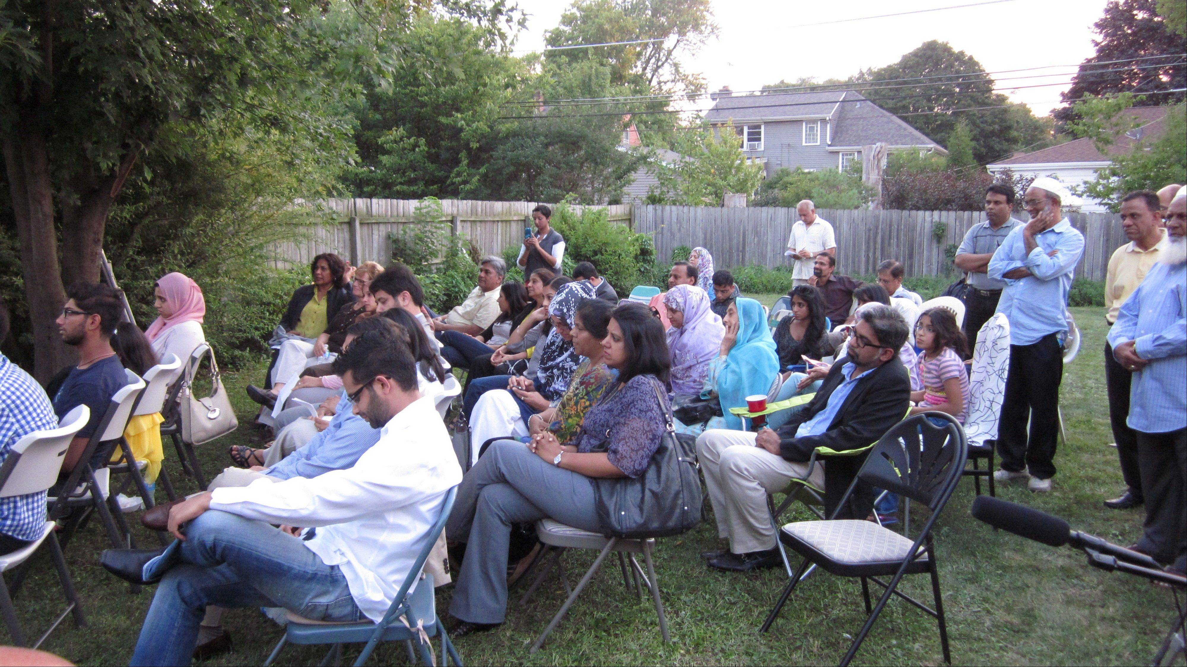More than 50 members of the Muslim-American community attended a backyard forum with Congressman Joe Walsh on Friday night in Lombard.