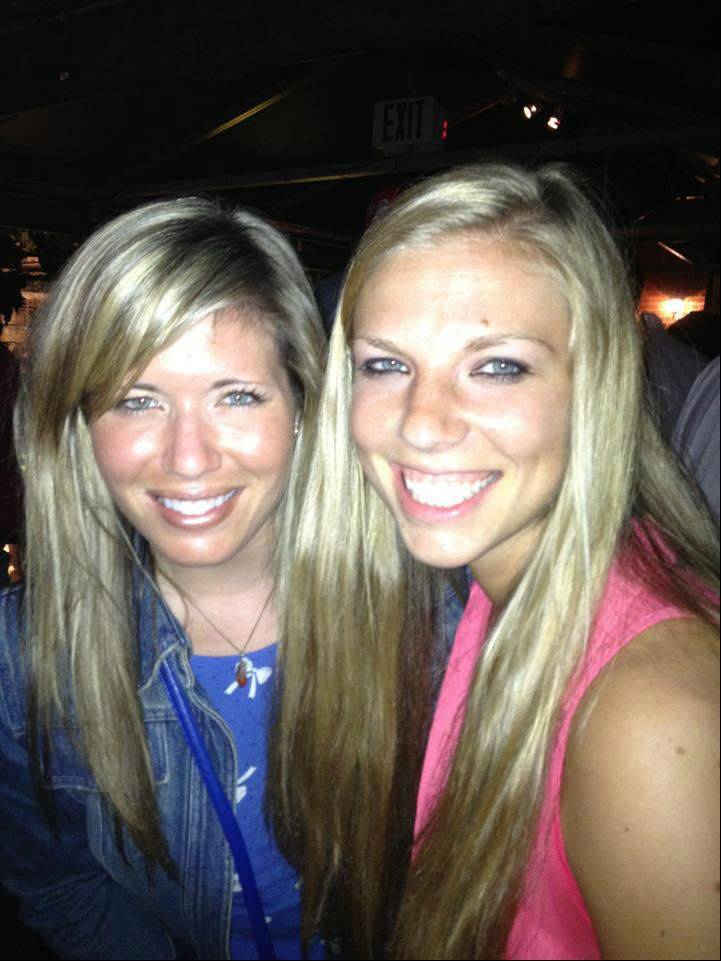 Sarah Entzeroth, left, and Megan Boken took this photo the night before Boken was killed.