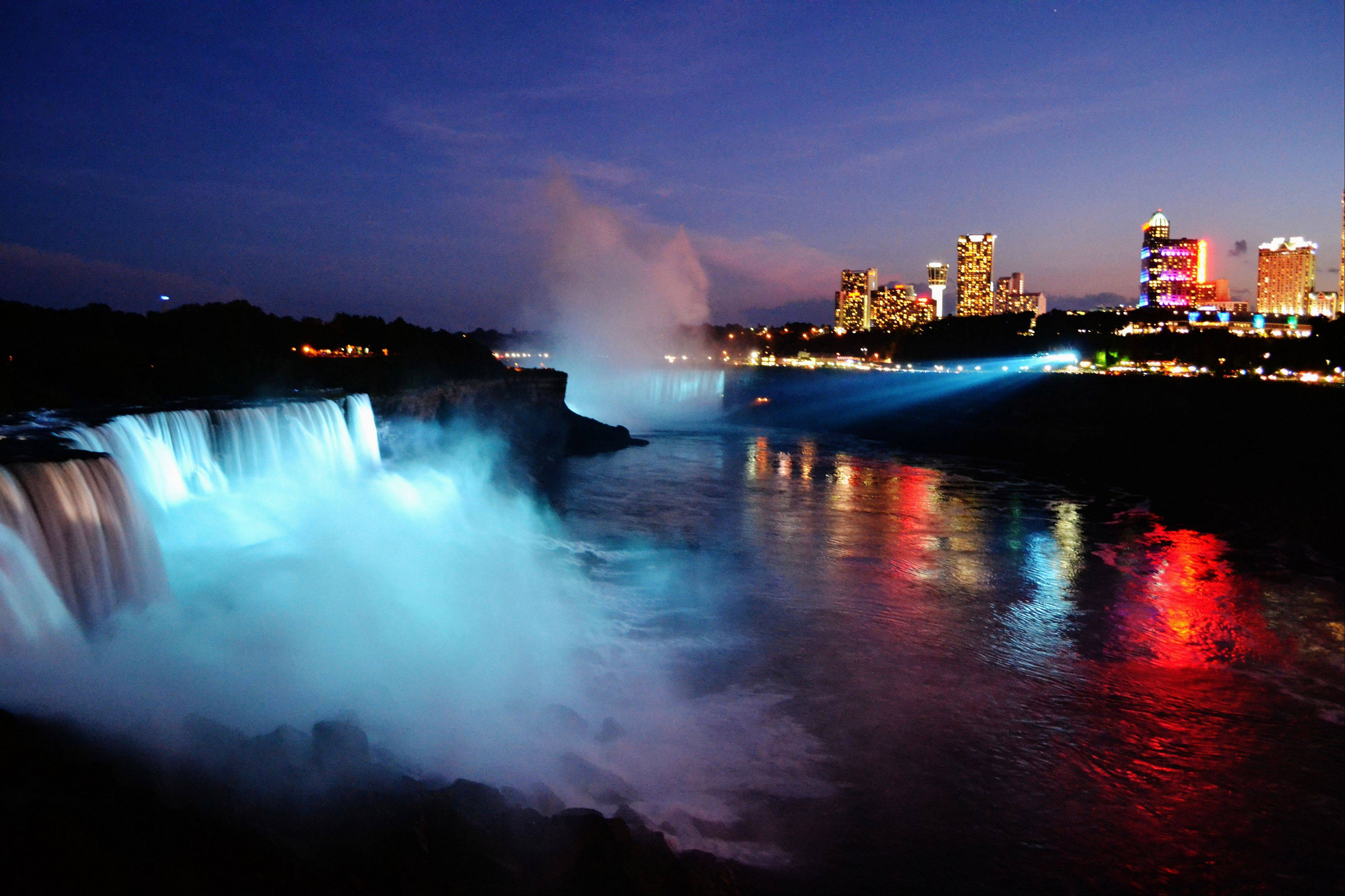 A view of Niagara Falls at night becomes magical as it is seen from the Observation Tower in New York last month.