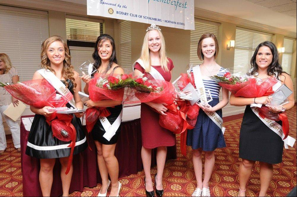Pictured are the 2011 Miss Septemberfest Court. The Rotary Club of Schaumburg/Hoffman Estates will crown the 2012 Miss Septemberfest and her court on Friday, Aug. 31, at Bridges of Poplar Creek Country Club in Hoffman Estates.