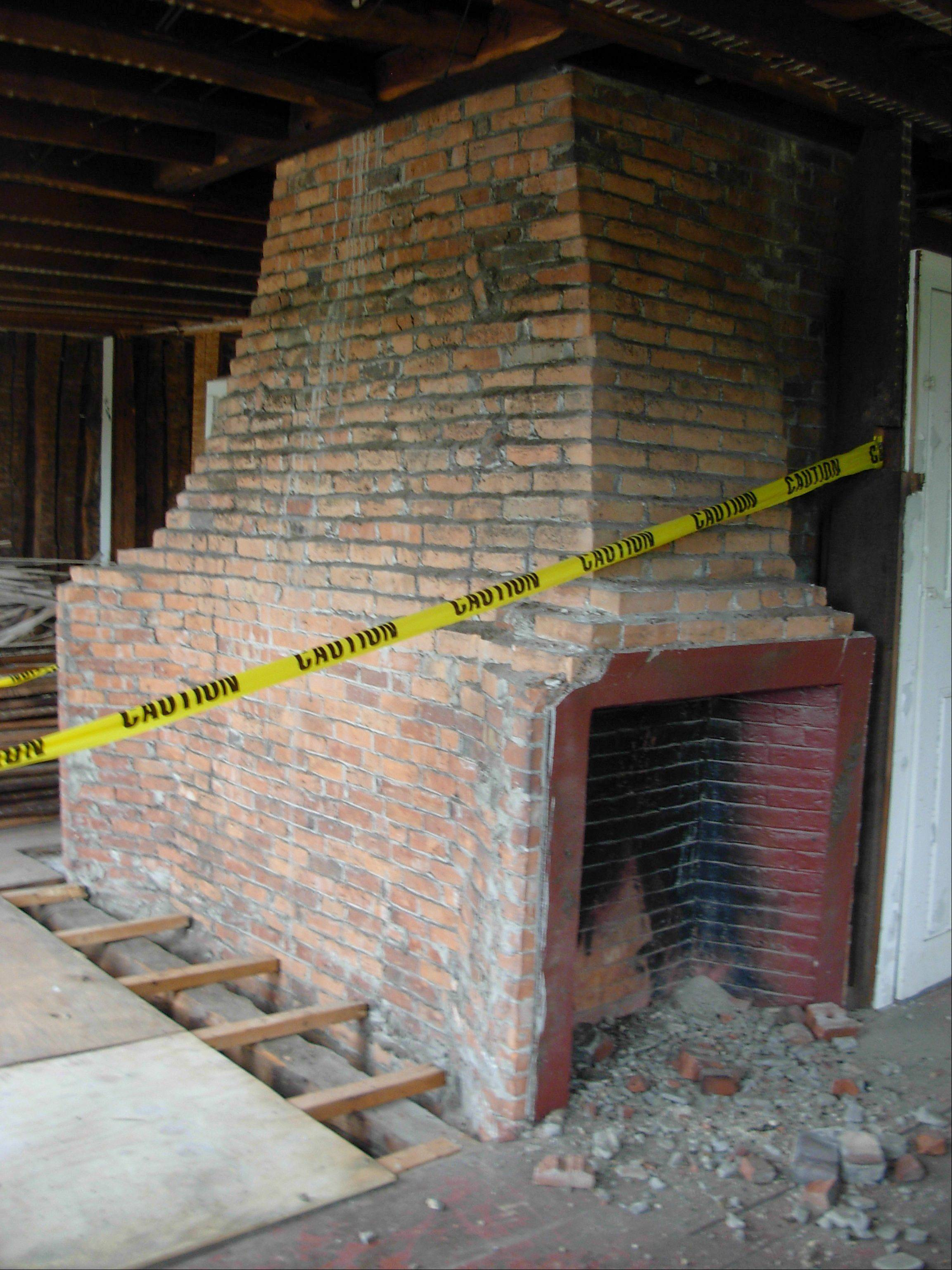 The historic home had an enormous center chimney for six fireplaces and a bake oven. Terri Rosenthal had the house dismantled and plans to rebuild it in Virginia.