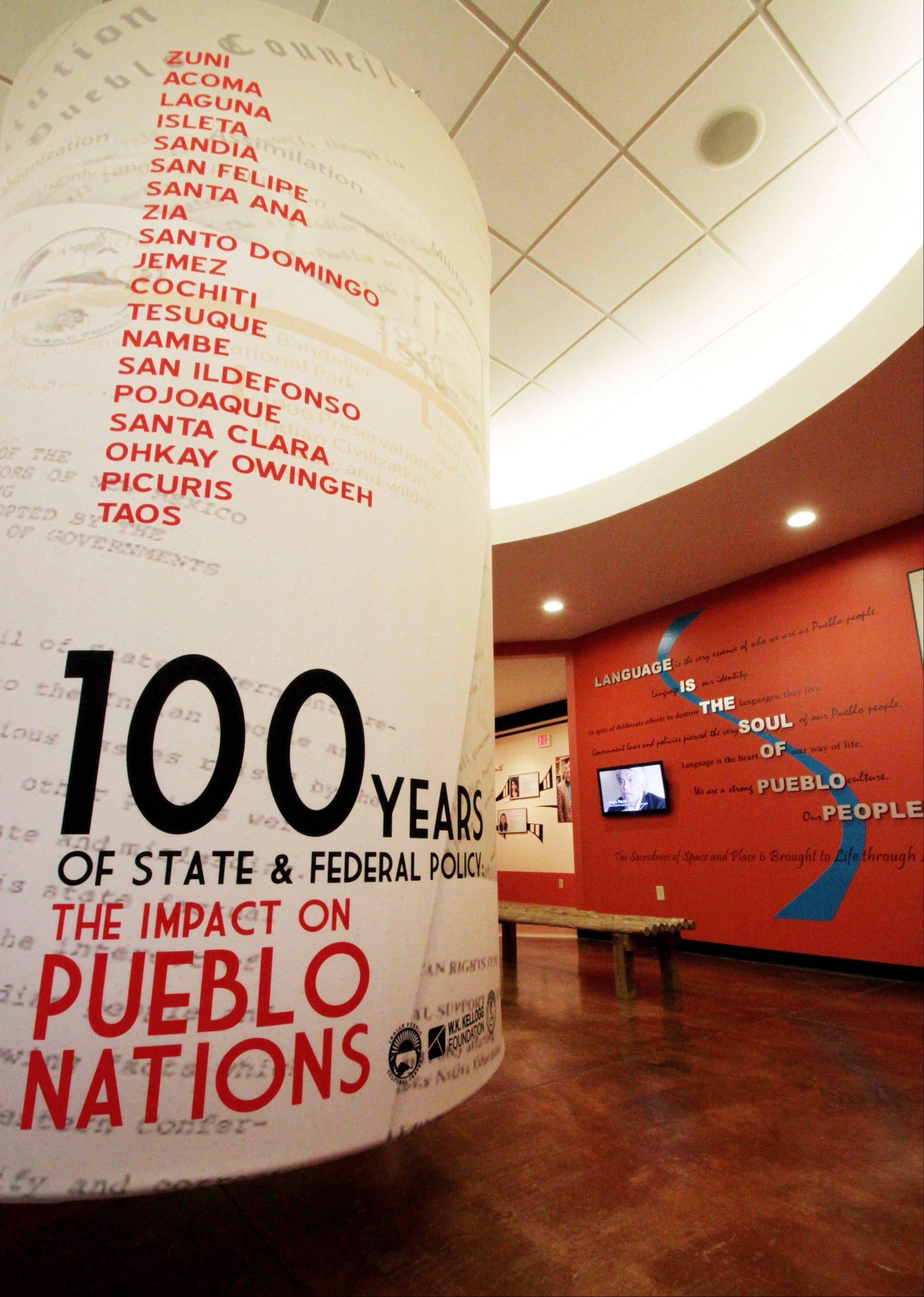 "Visitors to the Indian Pueblo Cultural Center can learn more about the pueblos in the ""100 Years of State and Federal Policy: The Impact on Pueblo Nations"" exhibit."