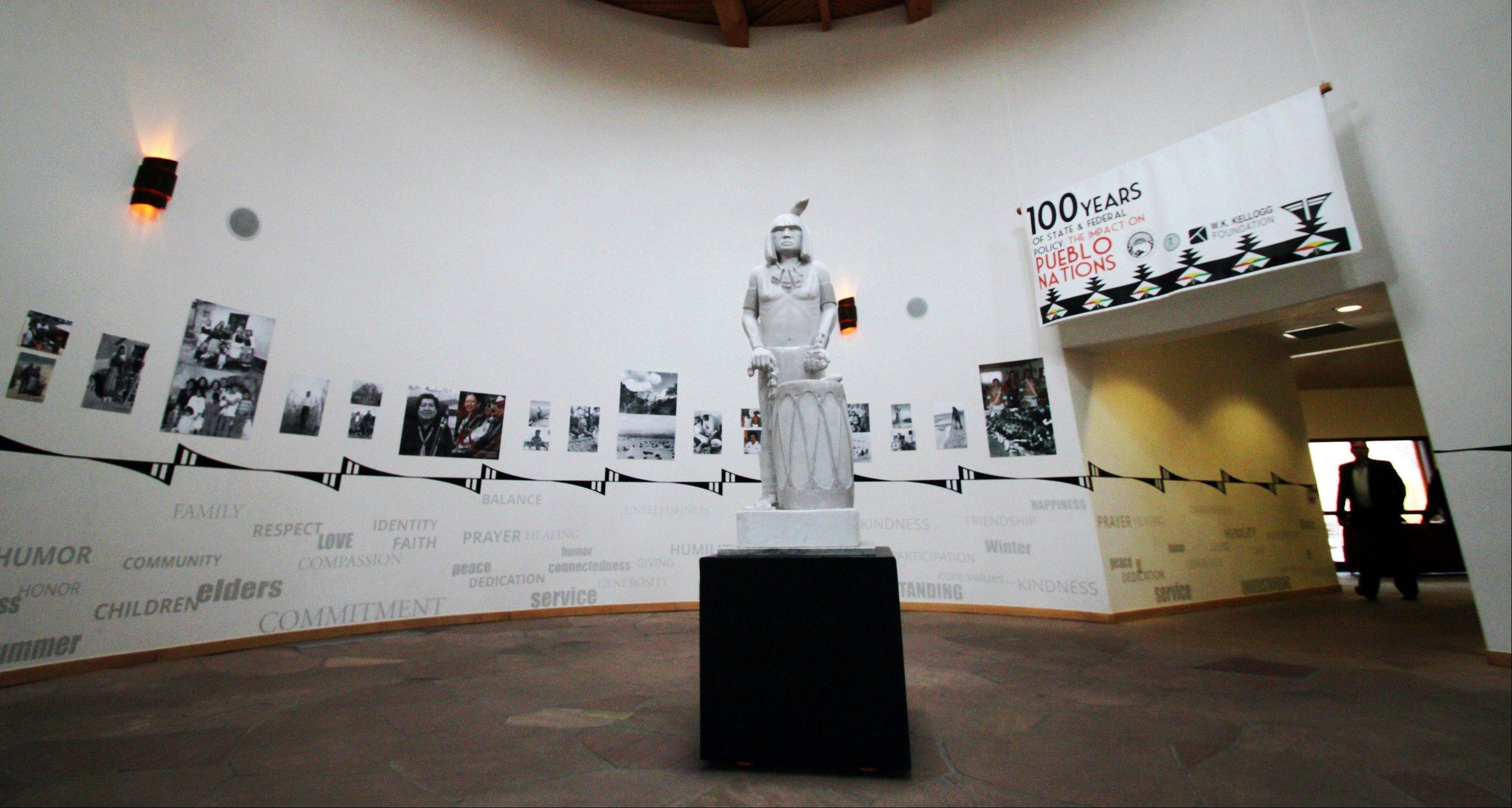 "The exhibition ""100 Years of State and Federal Policy: The Impact on Pueblo Nations"" offers some perspective at the Indian Pueblo Cultural Center in Albuquerque, N.M."