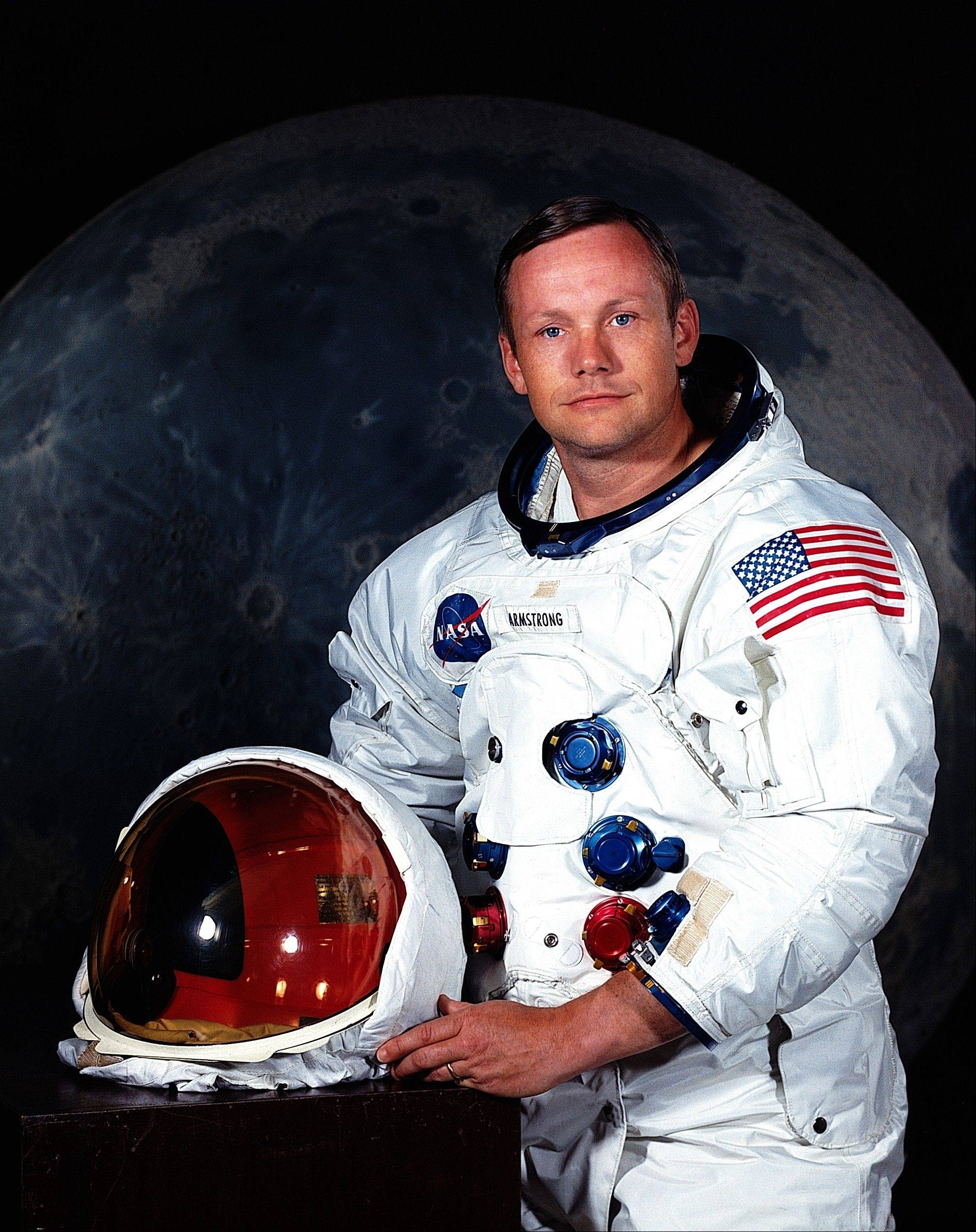"In undated photo provided by NASA shows Neil Armstrong. The family of Neil Armstrong, the first man to walk on the moon, says he has died at age 82. A statement from the family says he died following complications resulting from cardiovascular procedures. It doesn't say where he died. Armstrong commanded the Apollo 11 spacecraft that landed on the moon July 20, 1969. He radioed back to Earth the historic news of ""one giant leap for mankind."" Armstrong and fellow astronaut Edwin ""Buzz"" Aldrin spent nearly three hours walking on the moon, collecting samples, conducting experiments and taking photographs. In all, 12 Americans walked on the moon from 1969 to 1972."