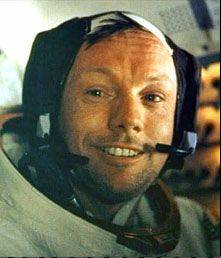 Neil Armstrong, first man to walk on the moon;